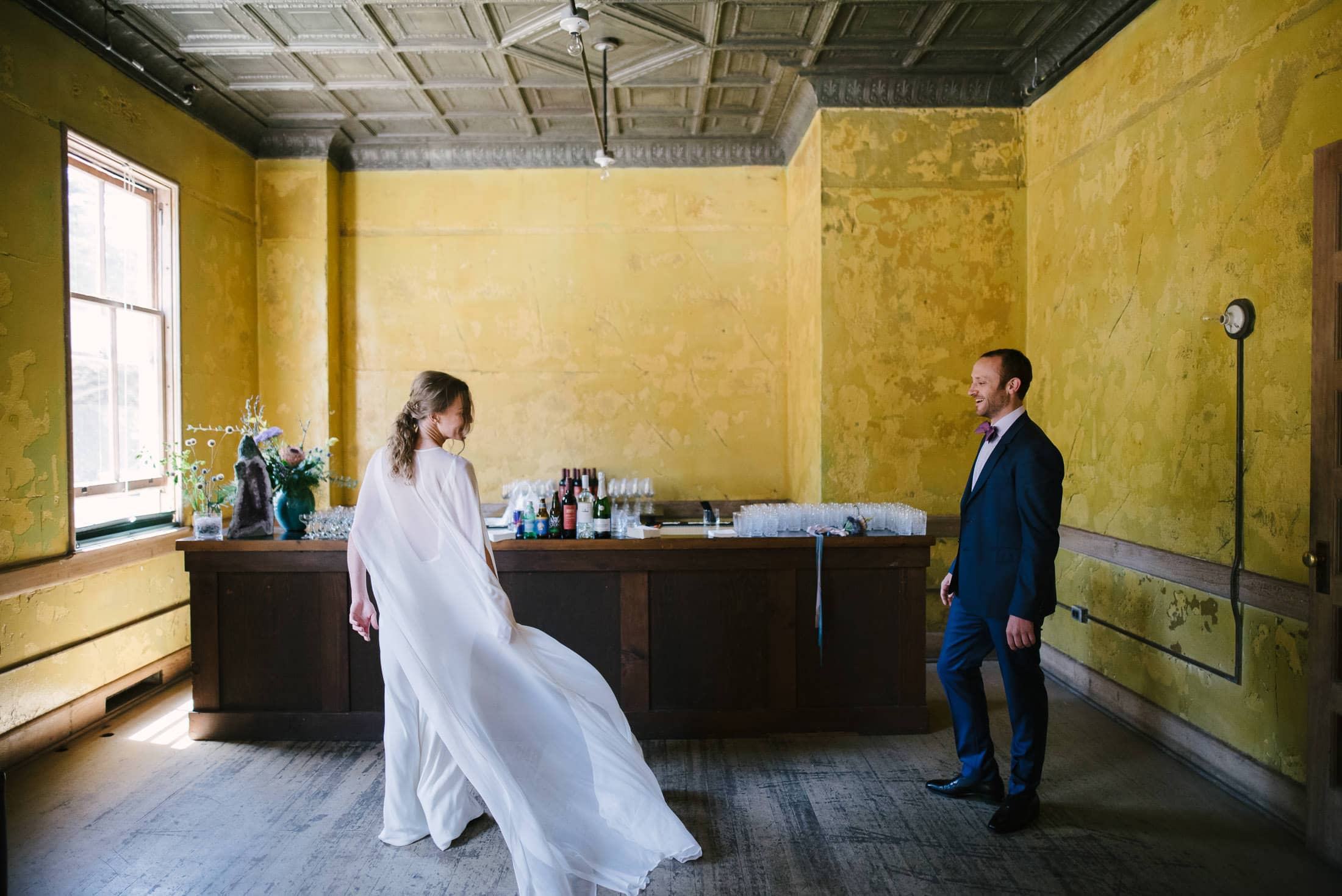 Headlands Center for the Arts Wedding first look