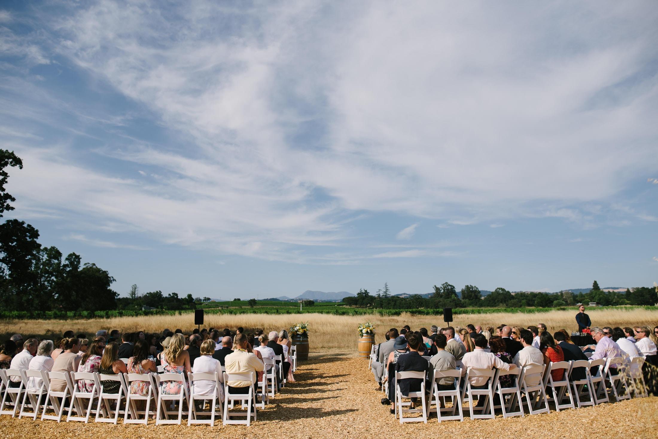 Ceremony at Sebastopol Same Sex Wedding