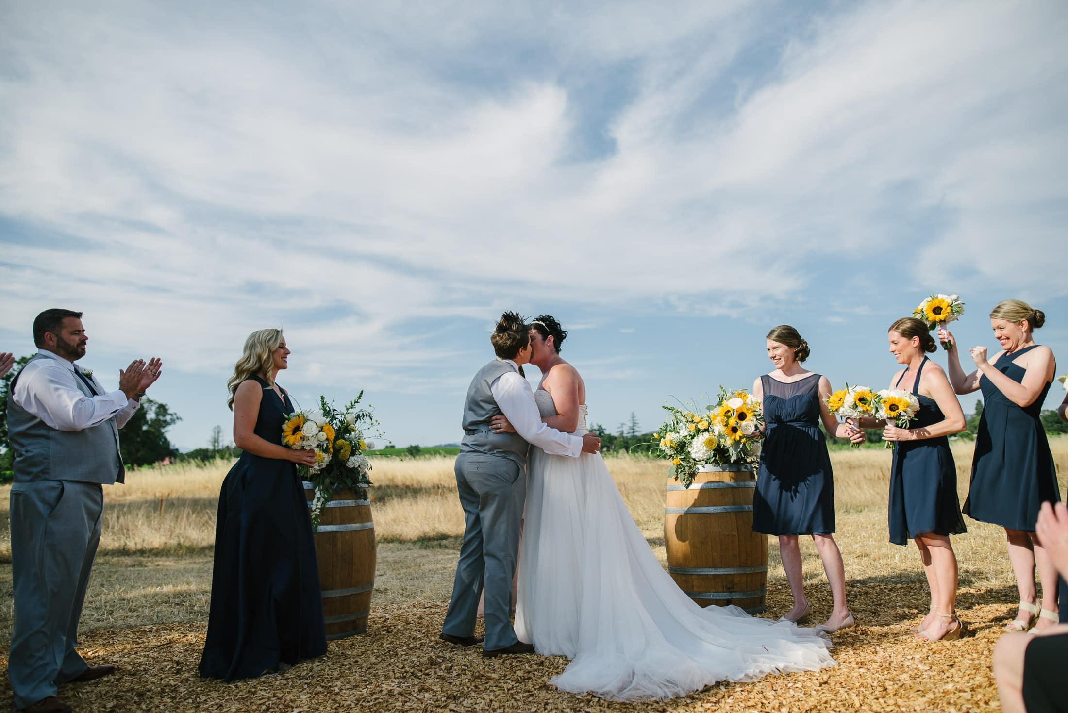 Family Ranch Sebastopol Same Sex Wedding ceremony