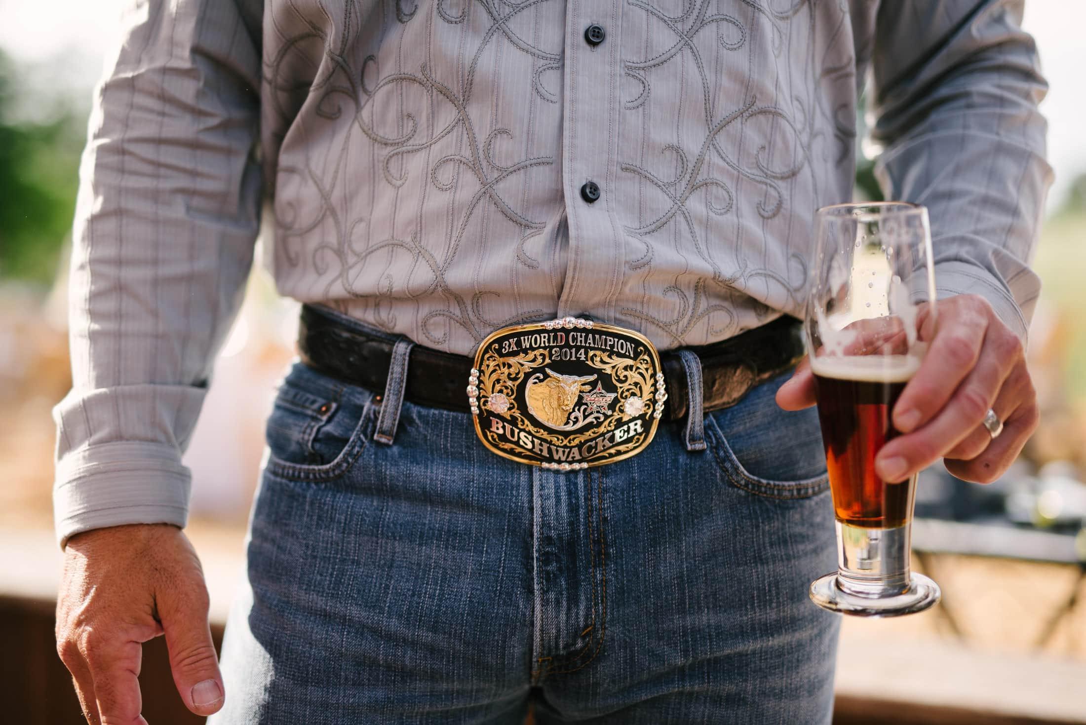 Huge belt buckle