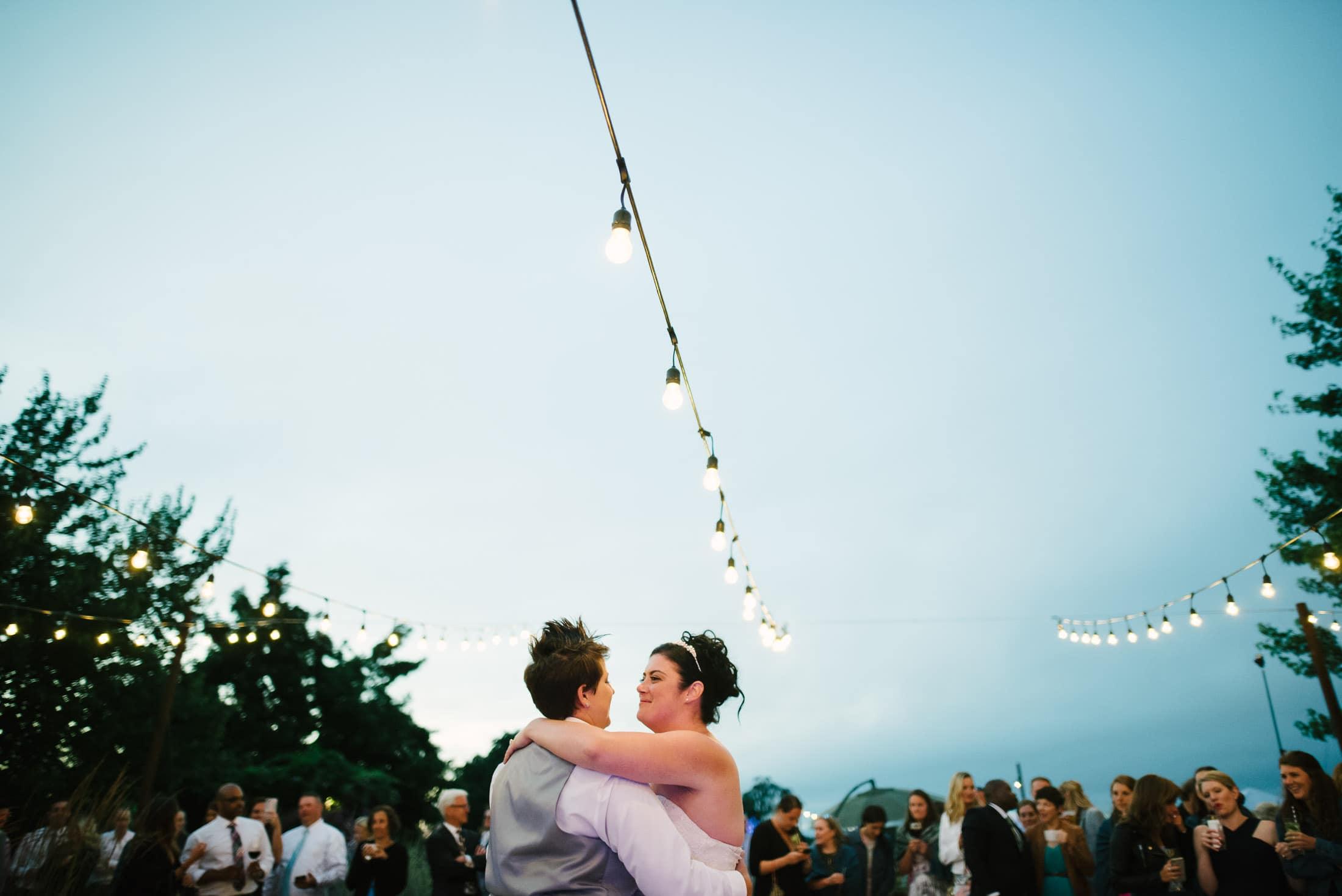 First Dance at Family Ranch Sebastopol Same Sex Wedding