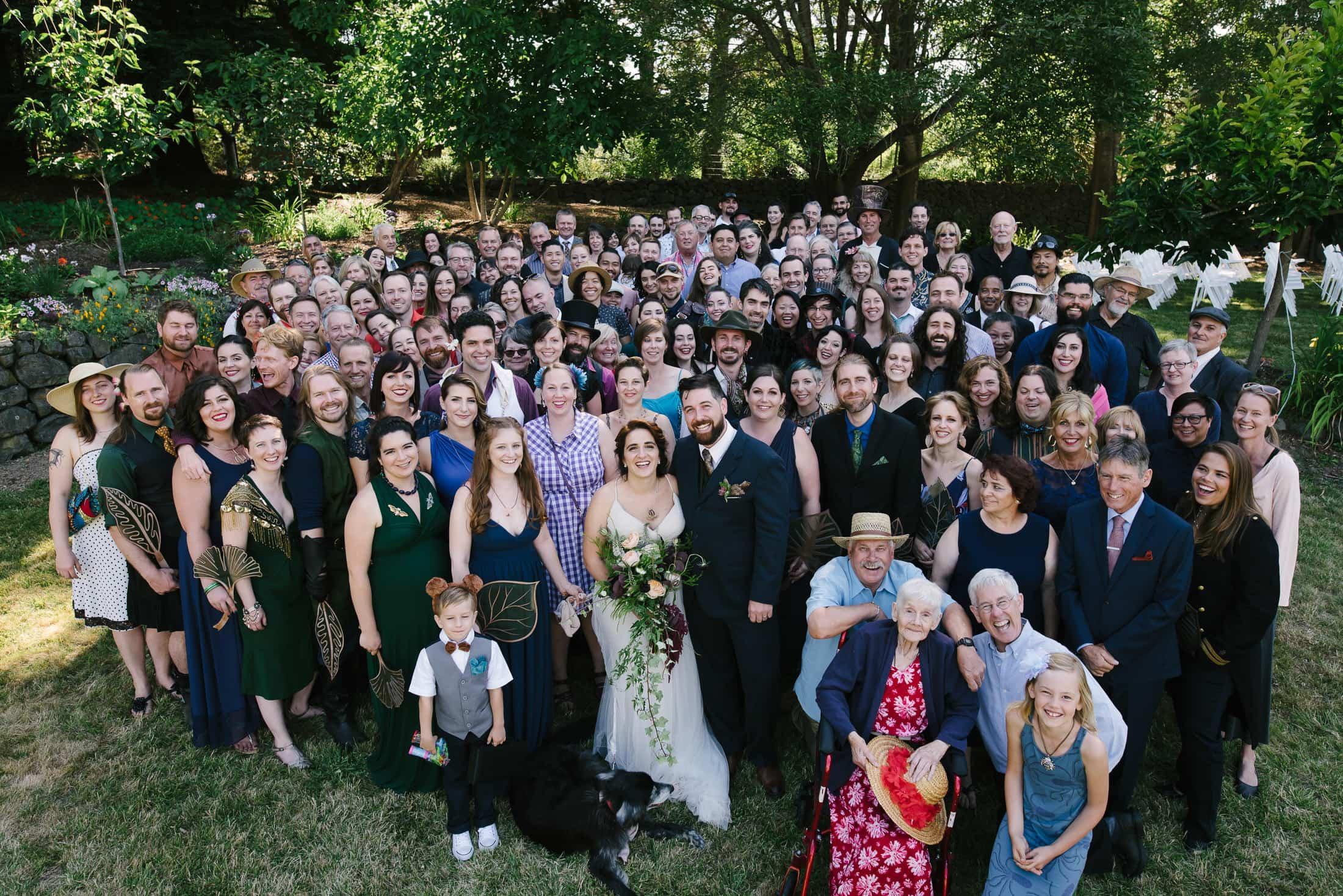 Wedding Group Shot in Sebastopol