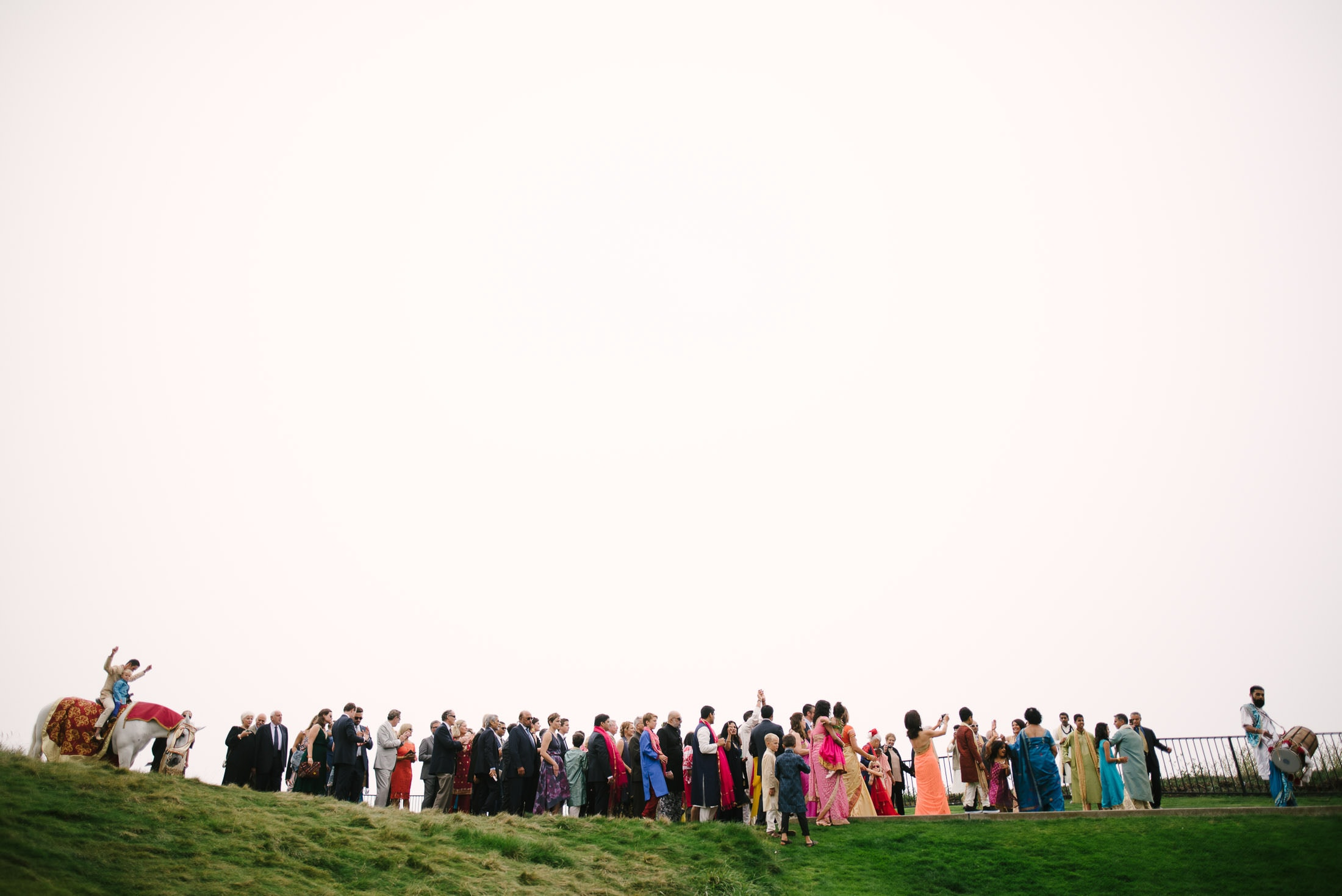 Ritz Carlton Half Moon Bay Wedding Indian Procession