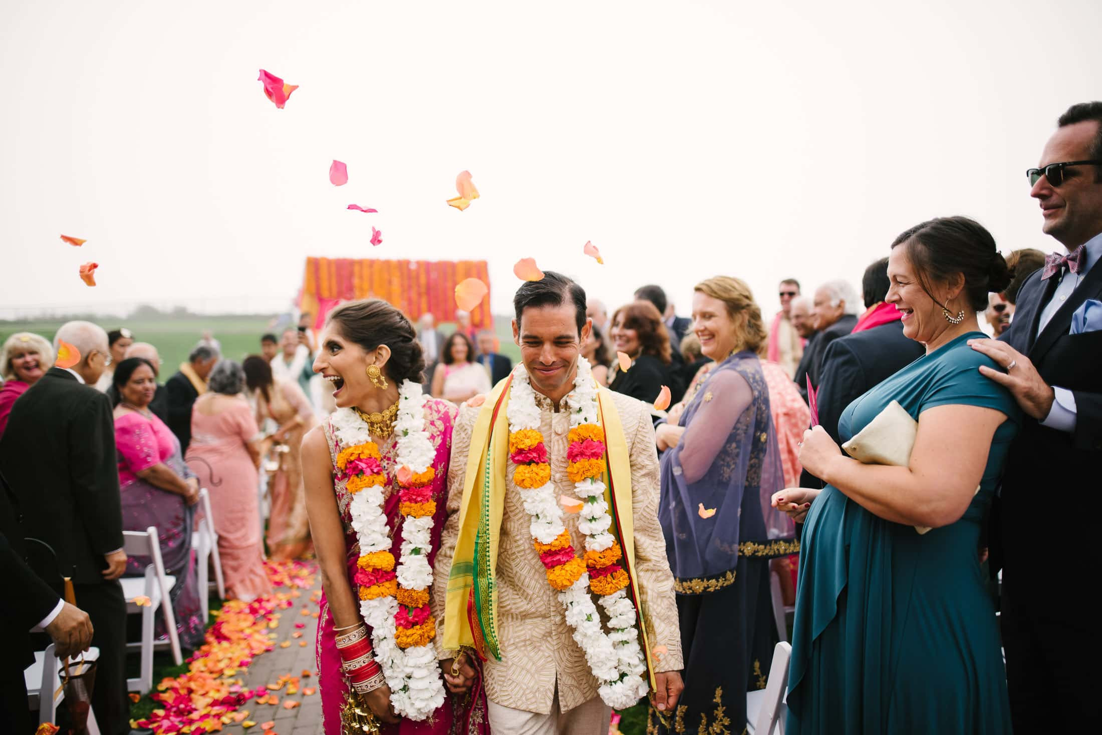 Ritz Carlton Half Moon Bay Wedding Indian Colorful