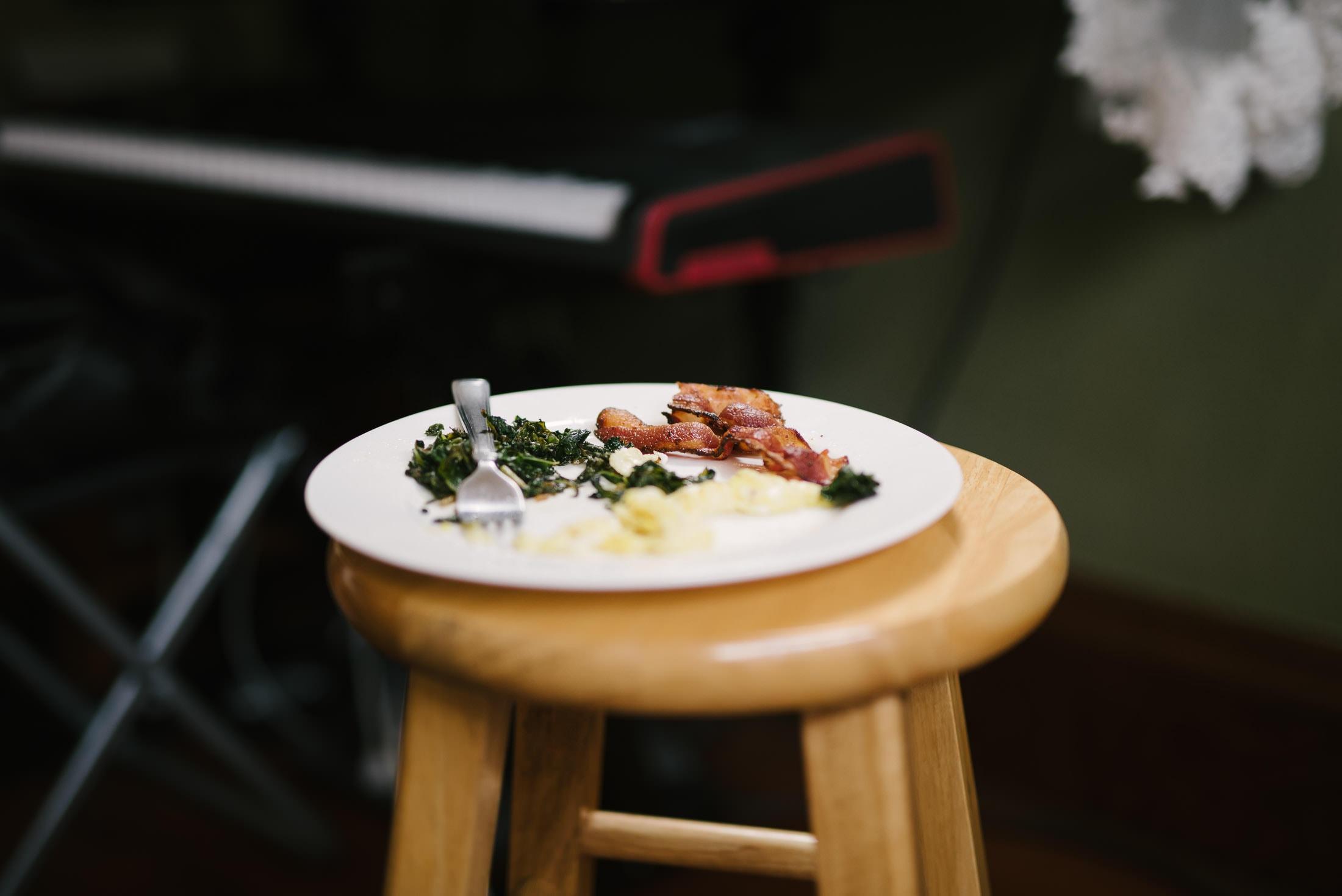 Detail Shot of Bacon Breakfast