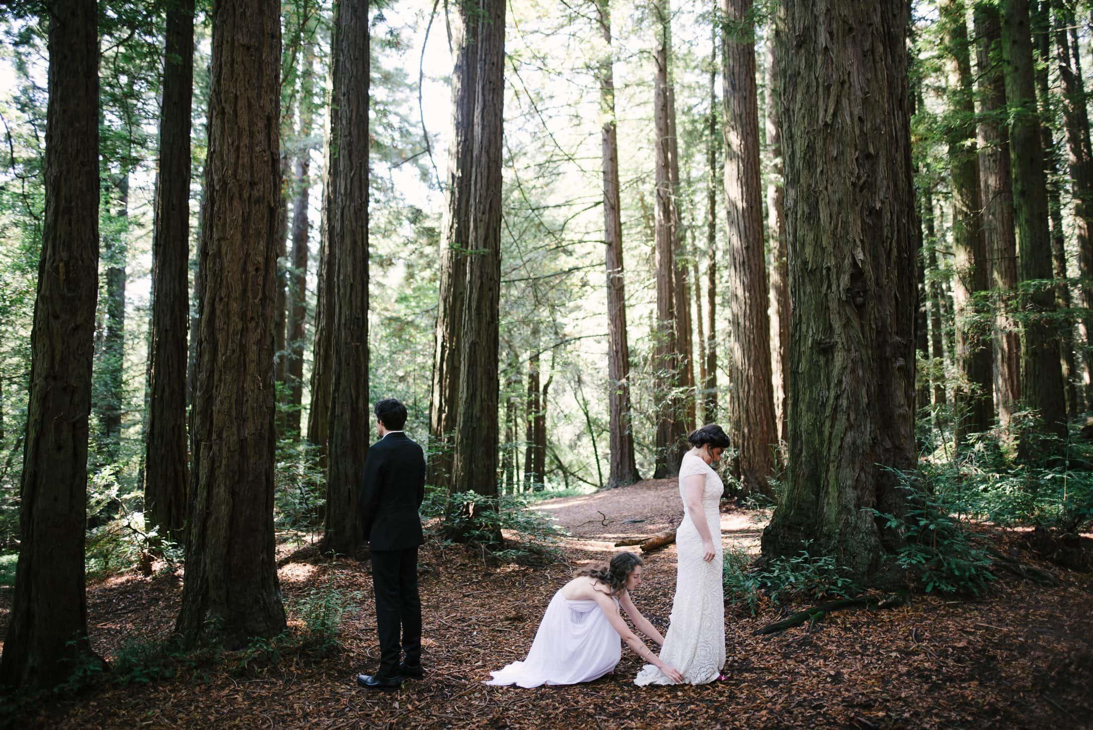 First look at Robert's Regional Park wedding