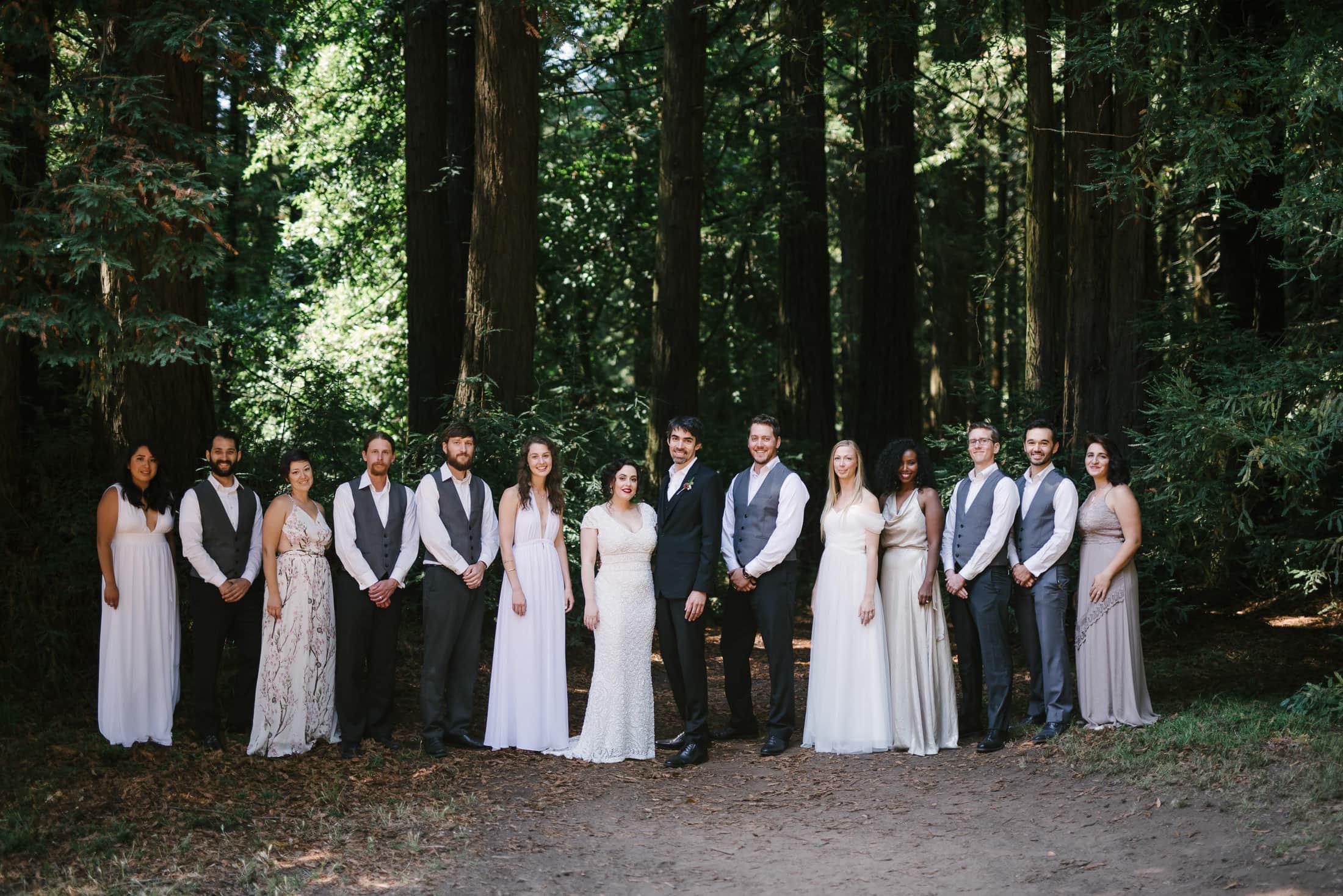 Robert's Regional Park wedding party portrait