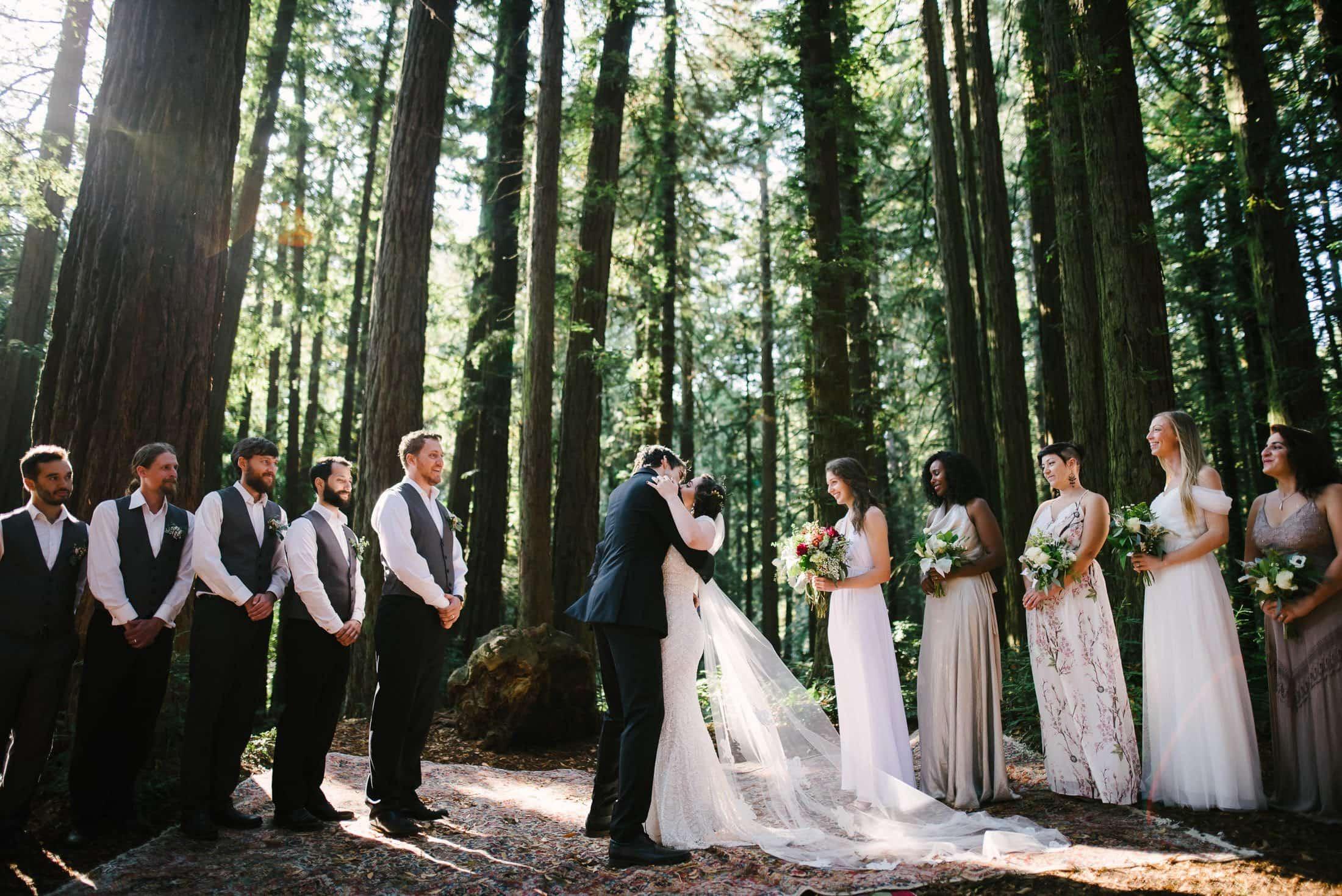 Robert's Regional Park wedding ceremony Kiss