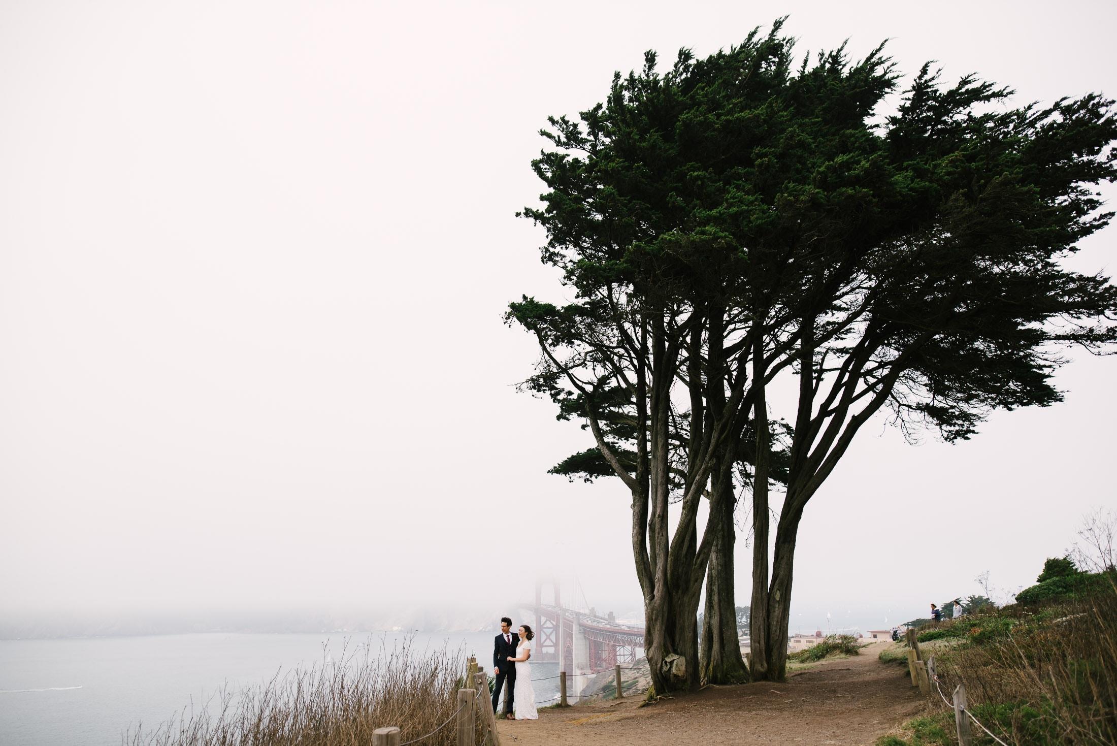 Golden Gate Bridge Wedding Portrait