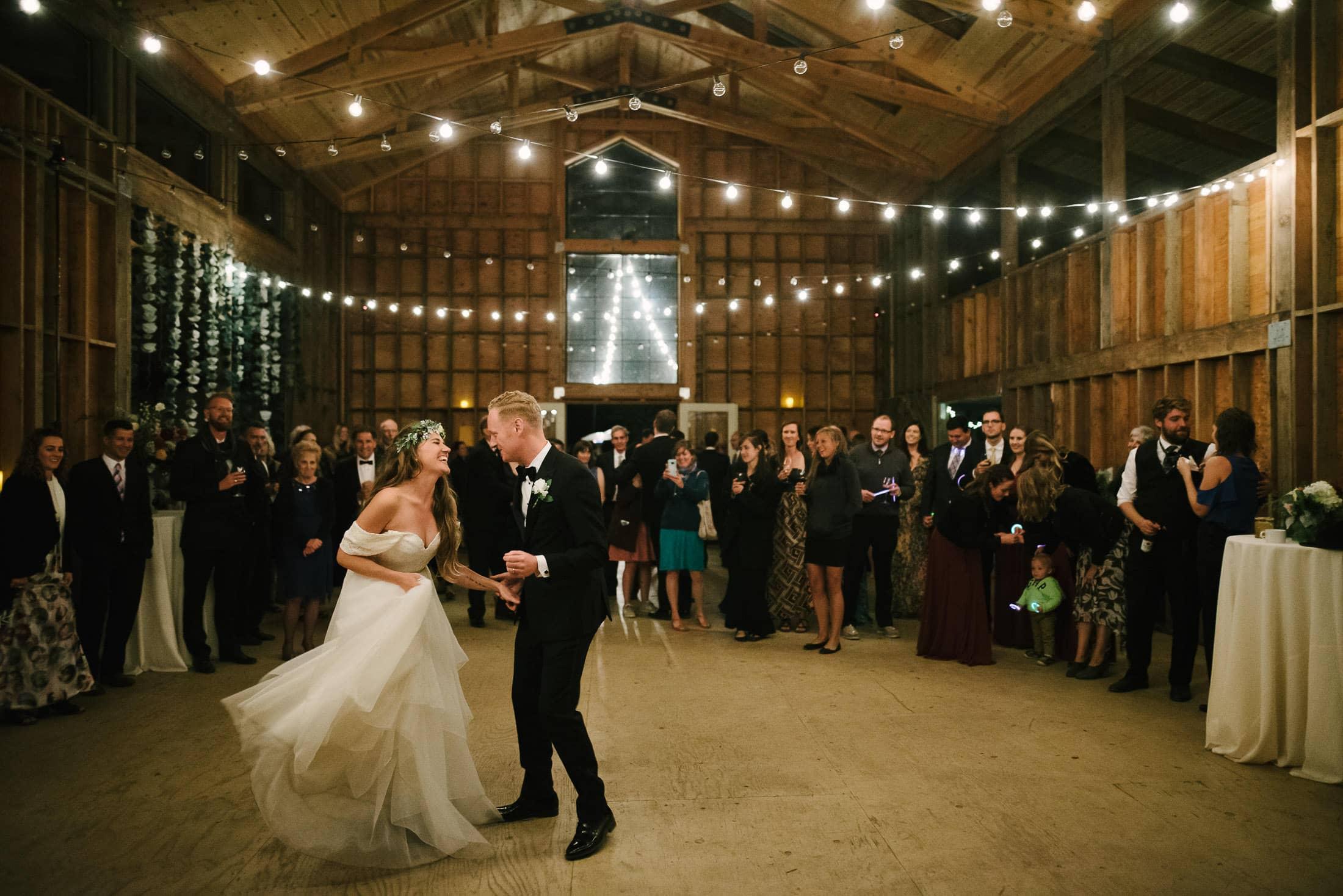 Oz Farm Wedding Dancing