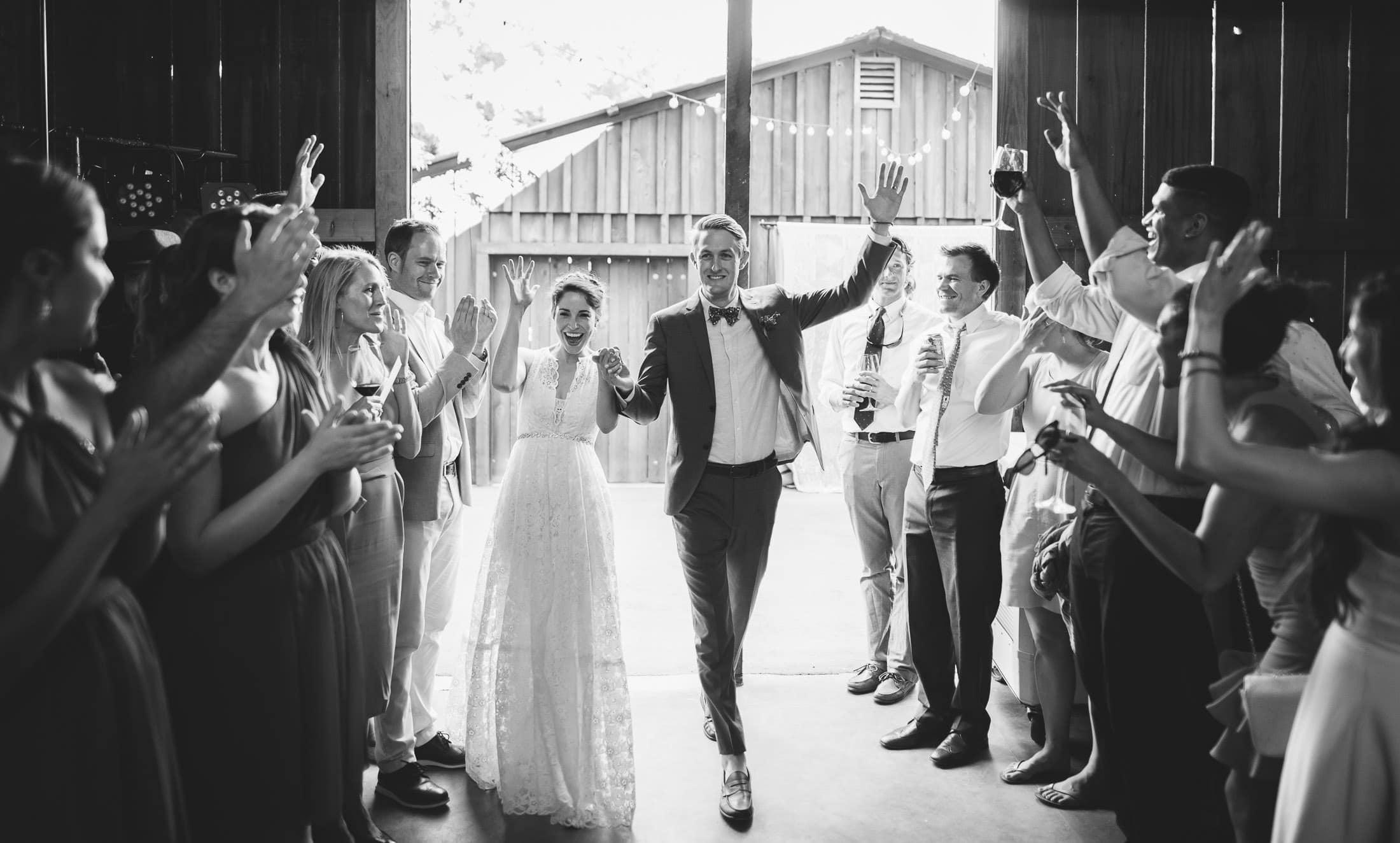 Awesome Ru's Farm Wedding entrance