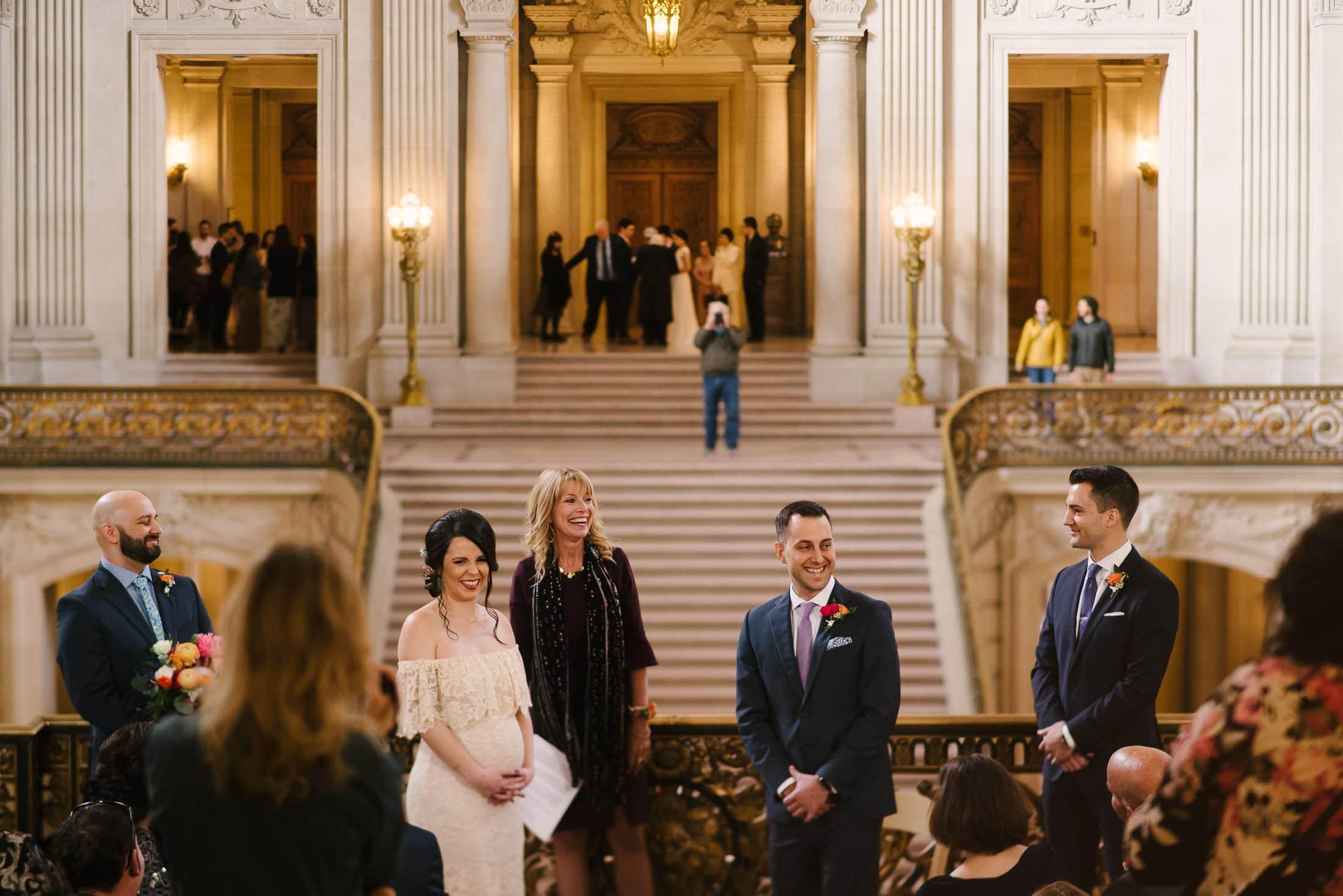 San Francisco City Hall Wedding From the Mayor's Balcony to the Rotunda