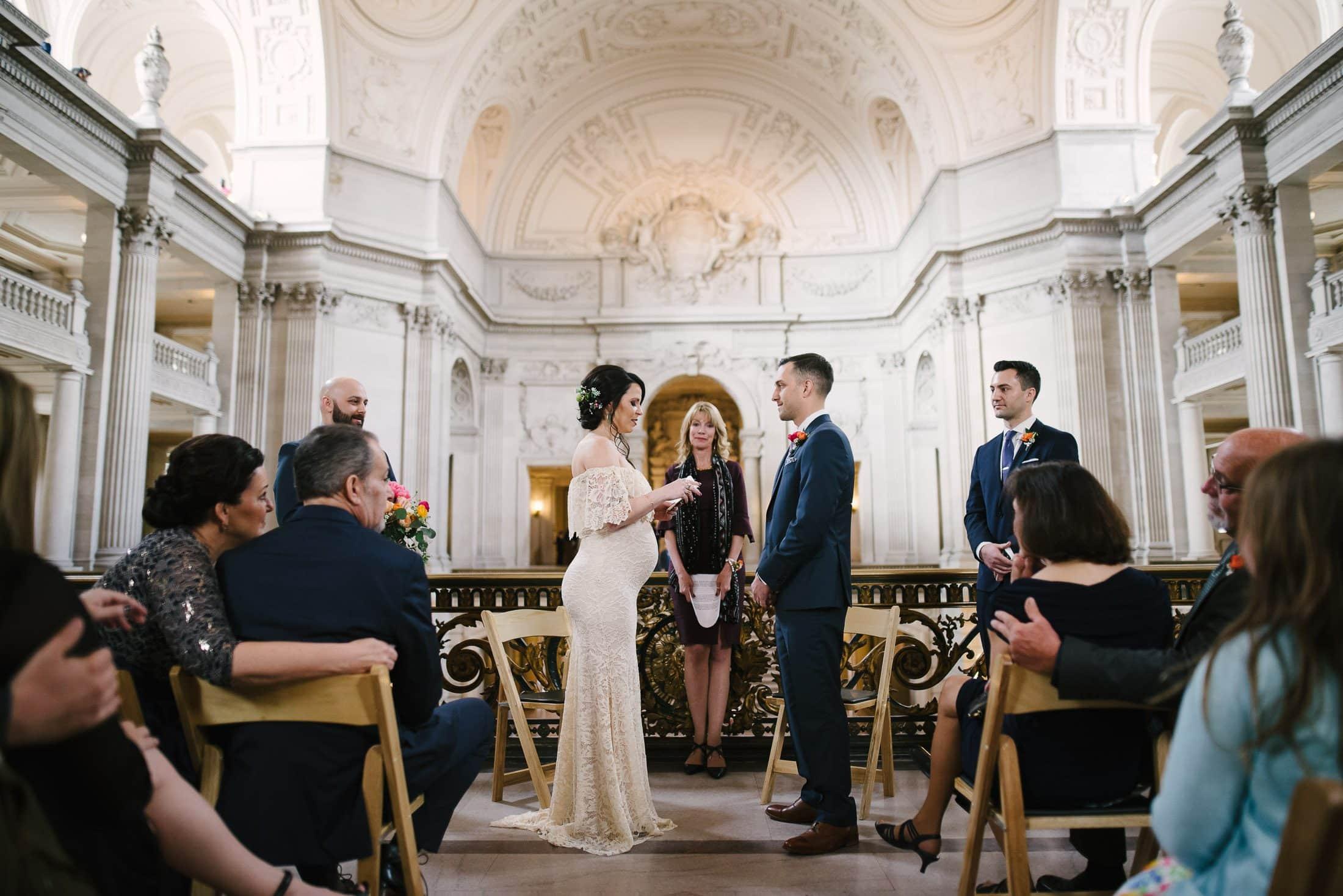 San Francisco City Hall Wedding Mayor's Balcony