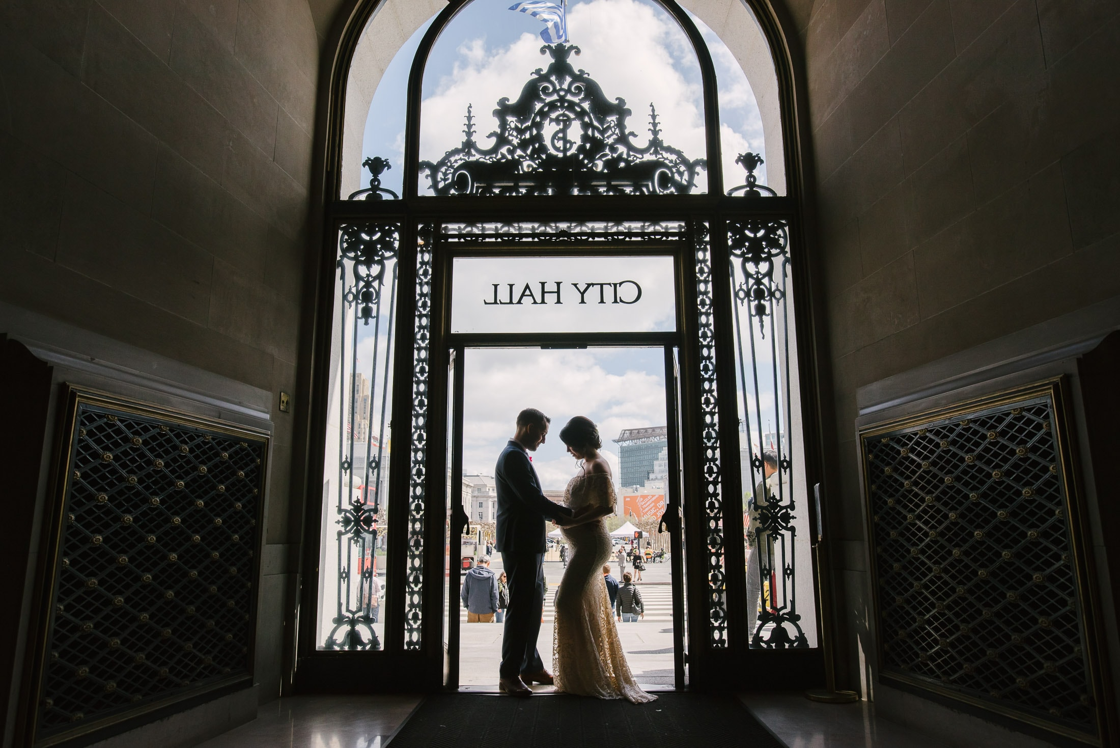 San Francisco City Hall Wedding Front Door