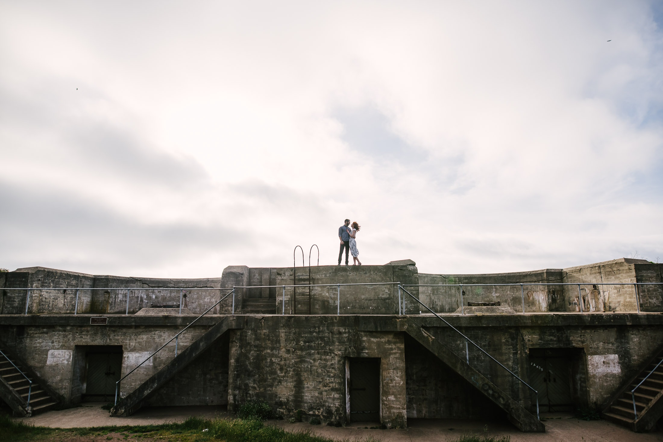 Engagement Session Overlooking the Golden Gate Bridge