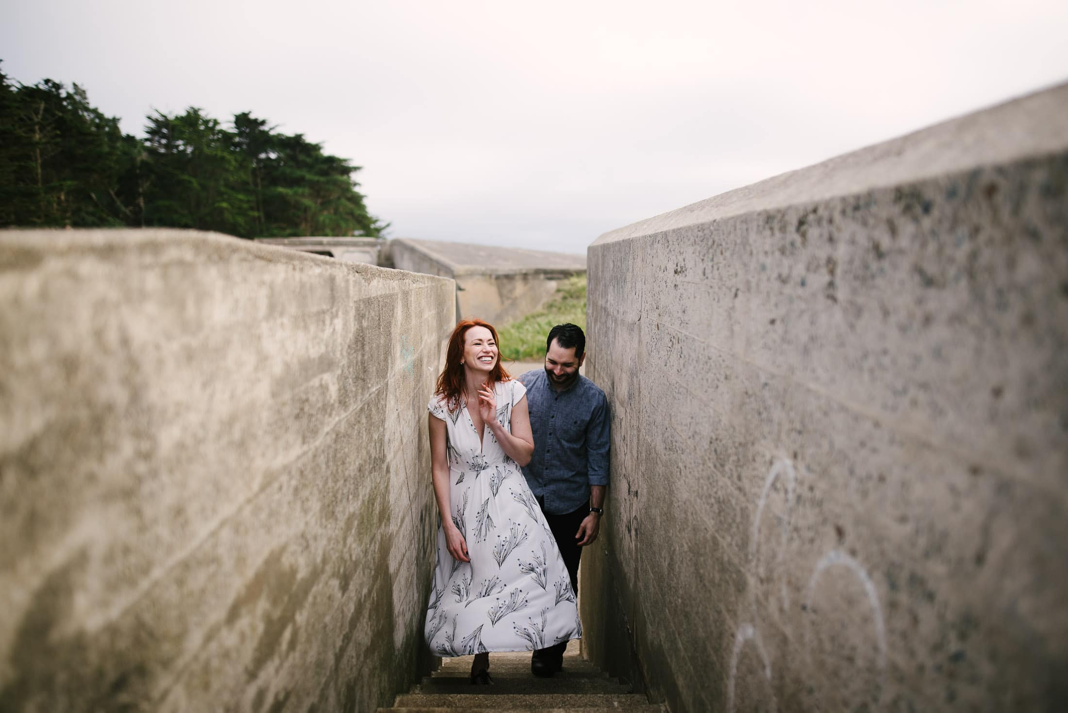 Laughing picture during engagement session