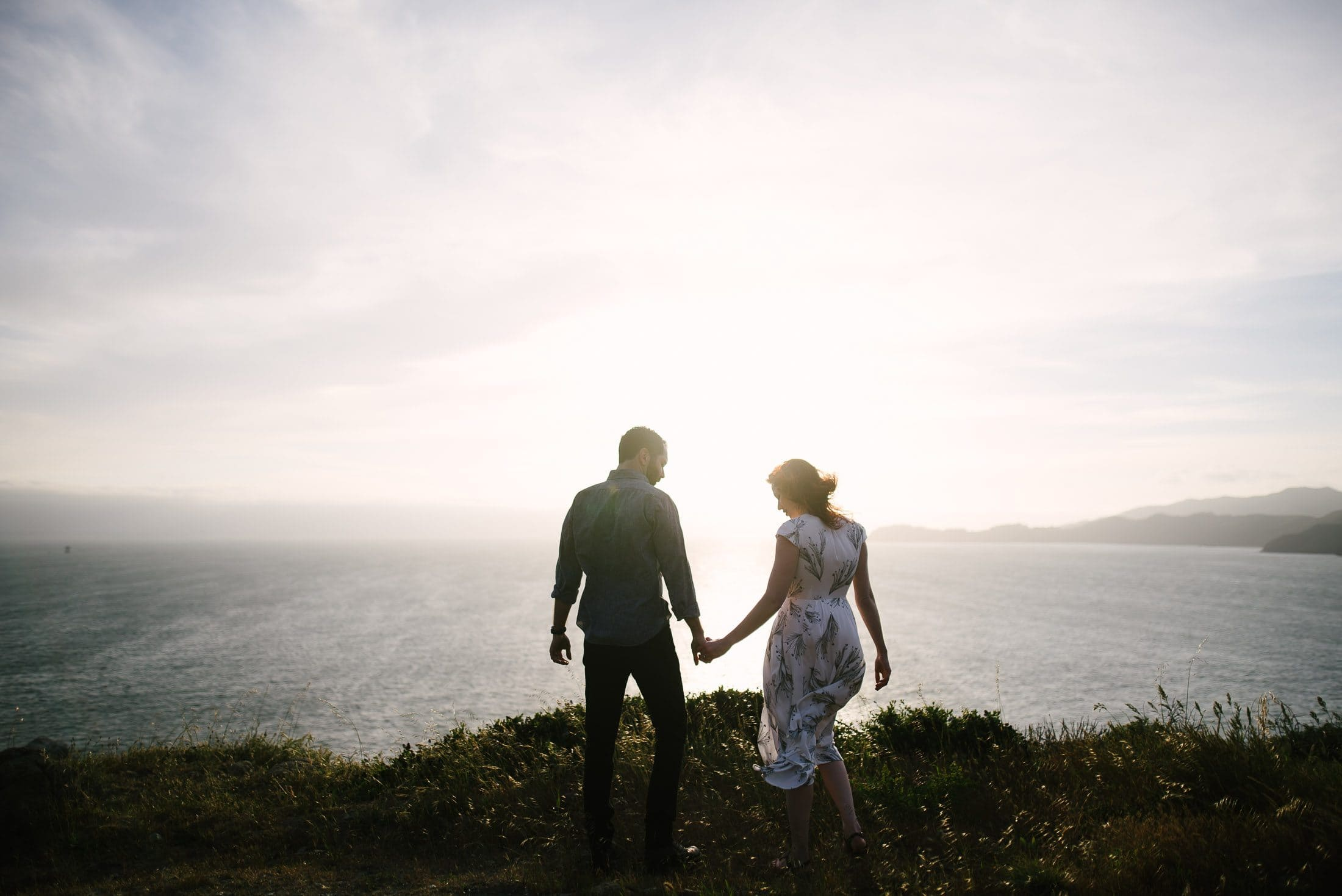 Engagement overlooking the Pacific