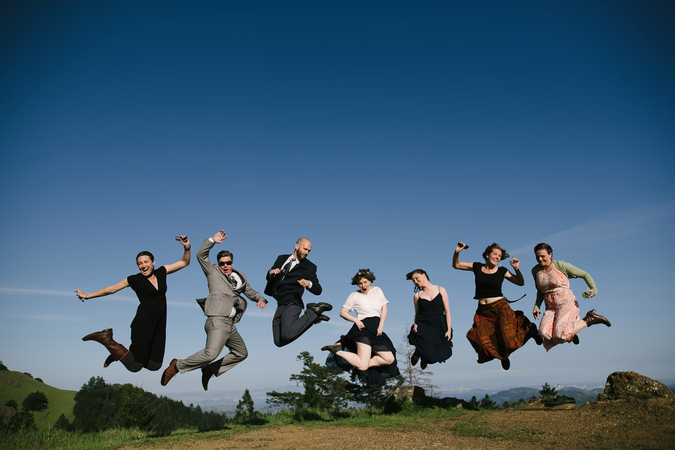 Fun Mount Tam Wedding Pic