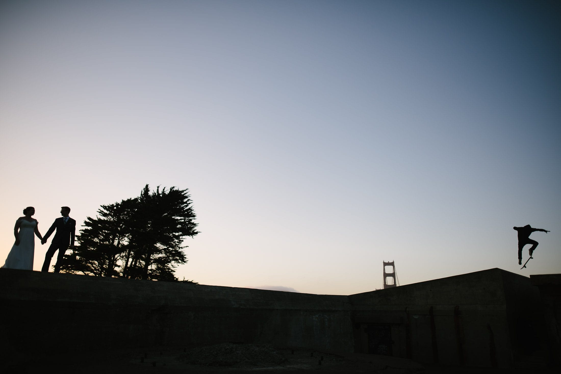 Golden Gate Bridge Wedding Pic