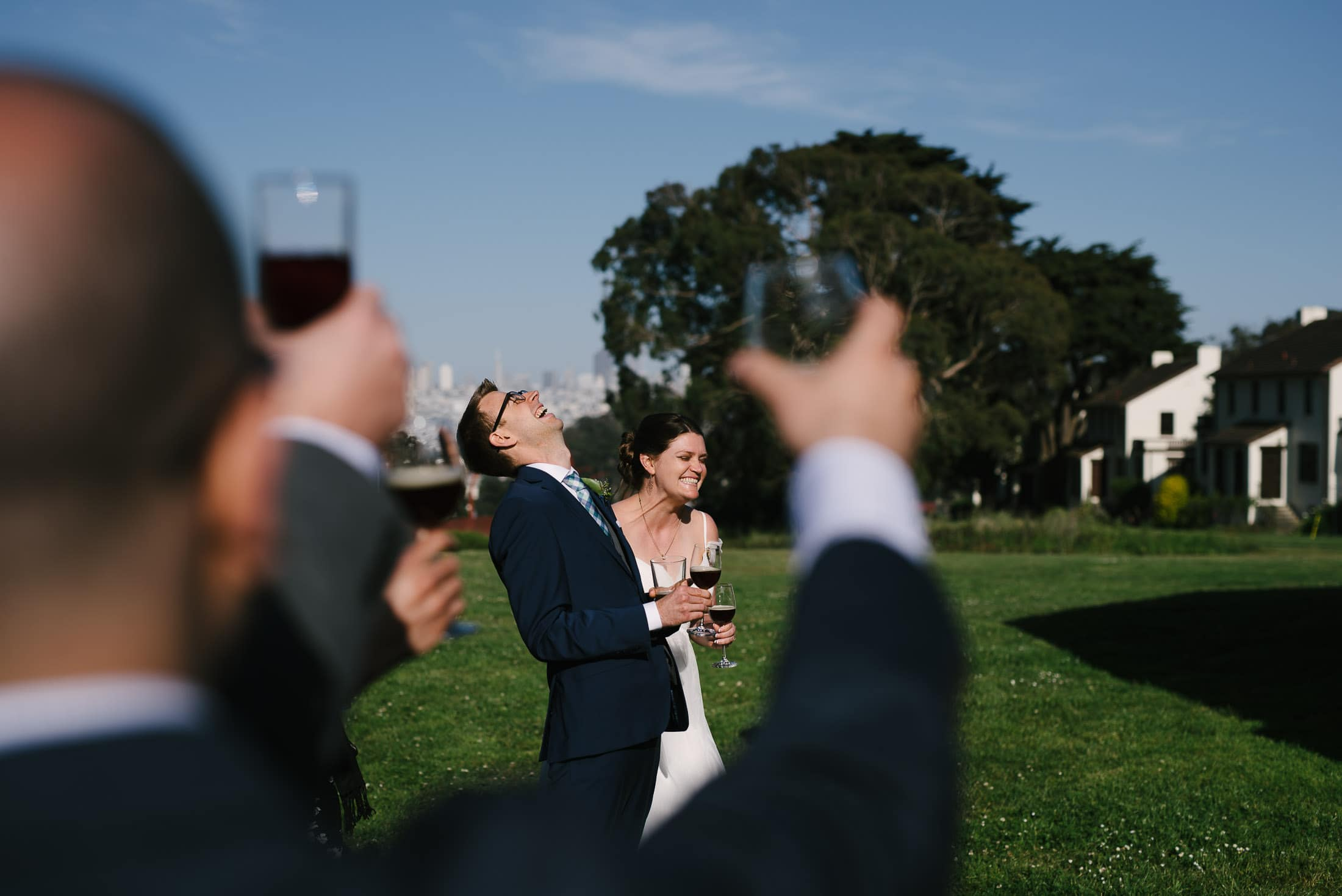 Presidio Log Cabin Wedding Toast