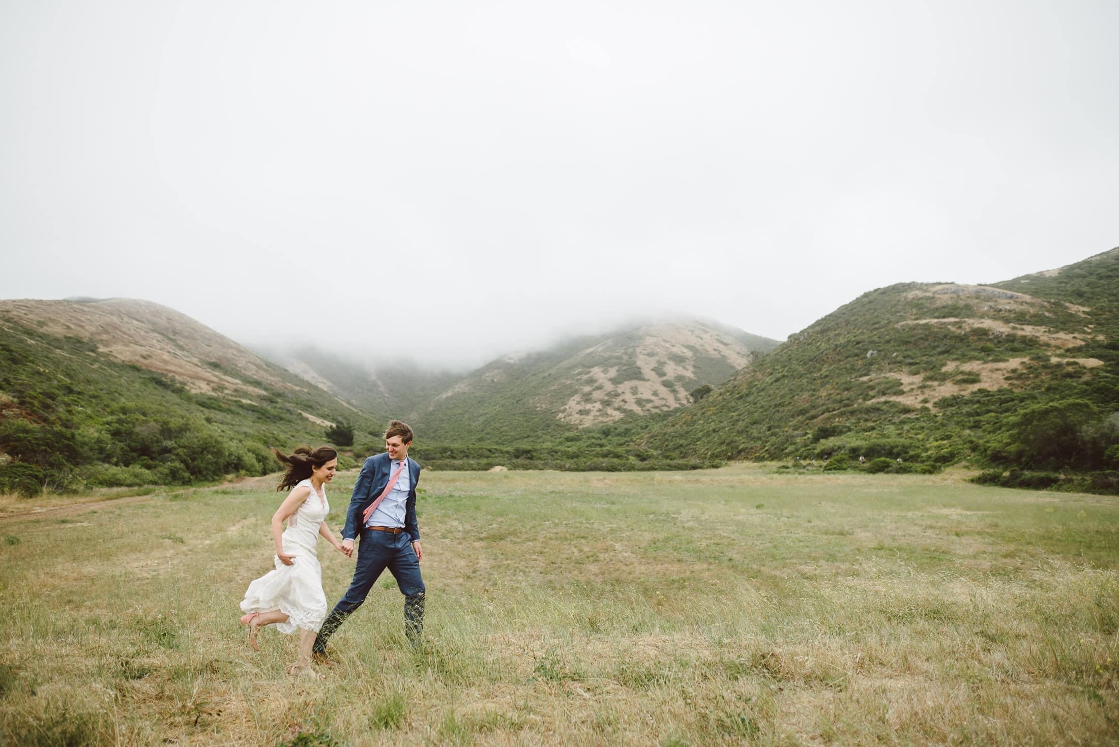Marin Headlands Wedding Portrait