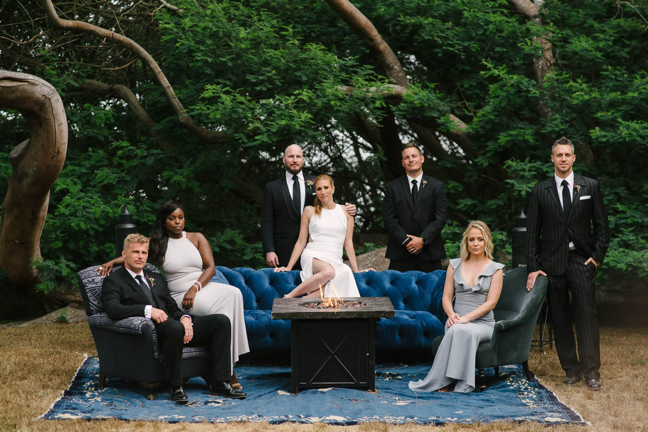 Bolinas Wedding Party Portrait