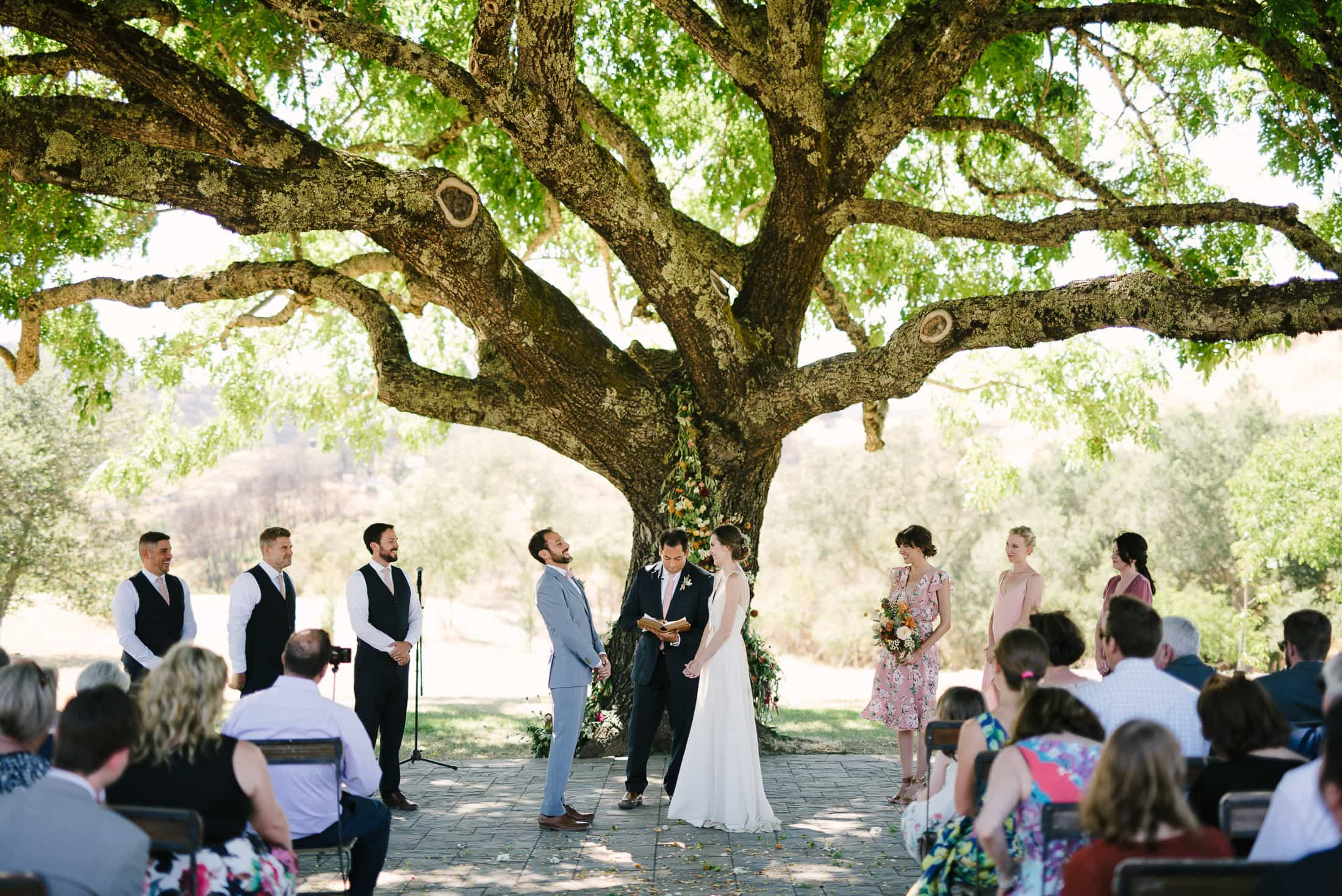 Ceremony Walnut Tree Triple S Ranch
