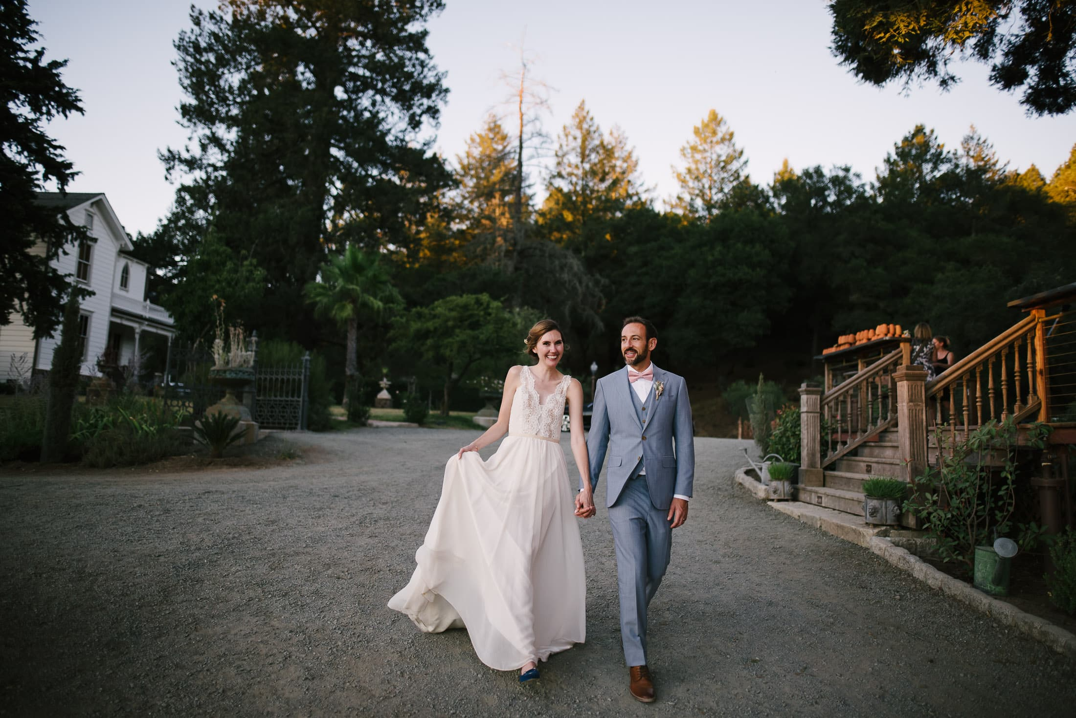 Couple Walking at Triple S Ranch