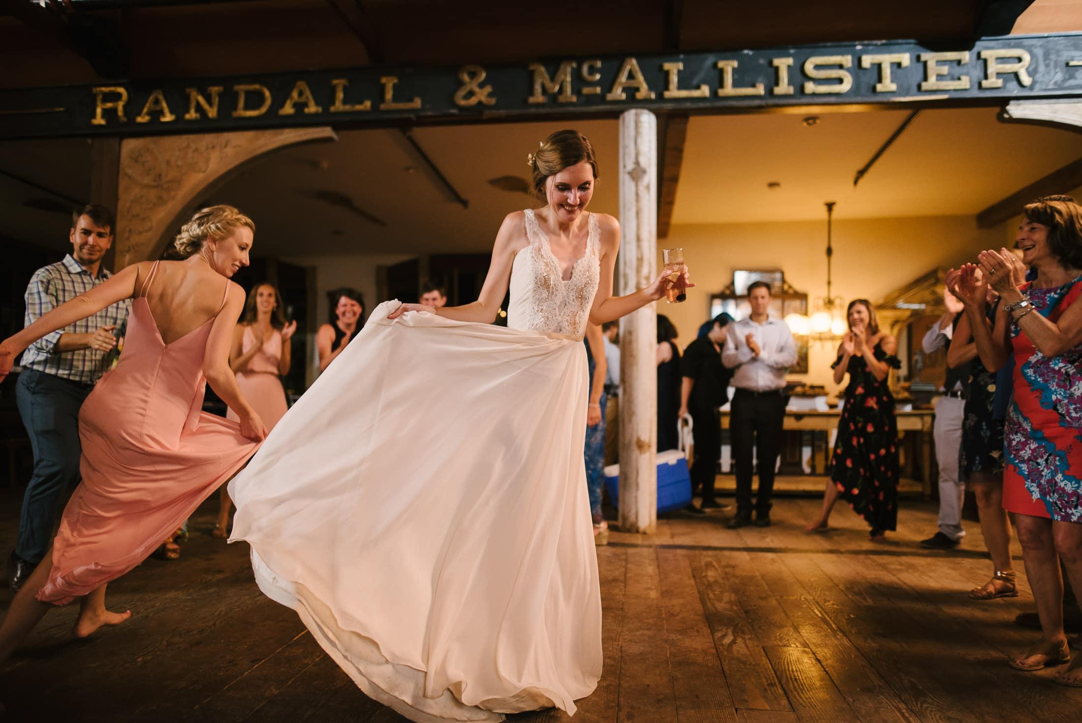 Bride Dancing at Triple S Ranch