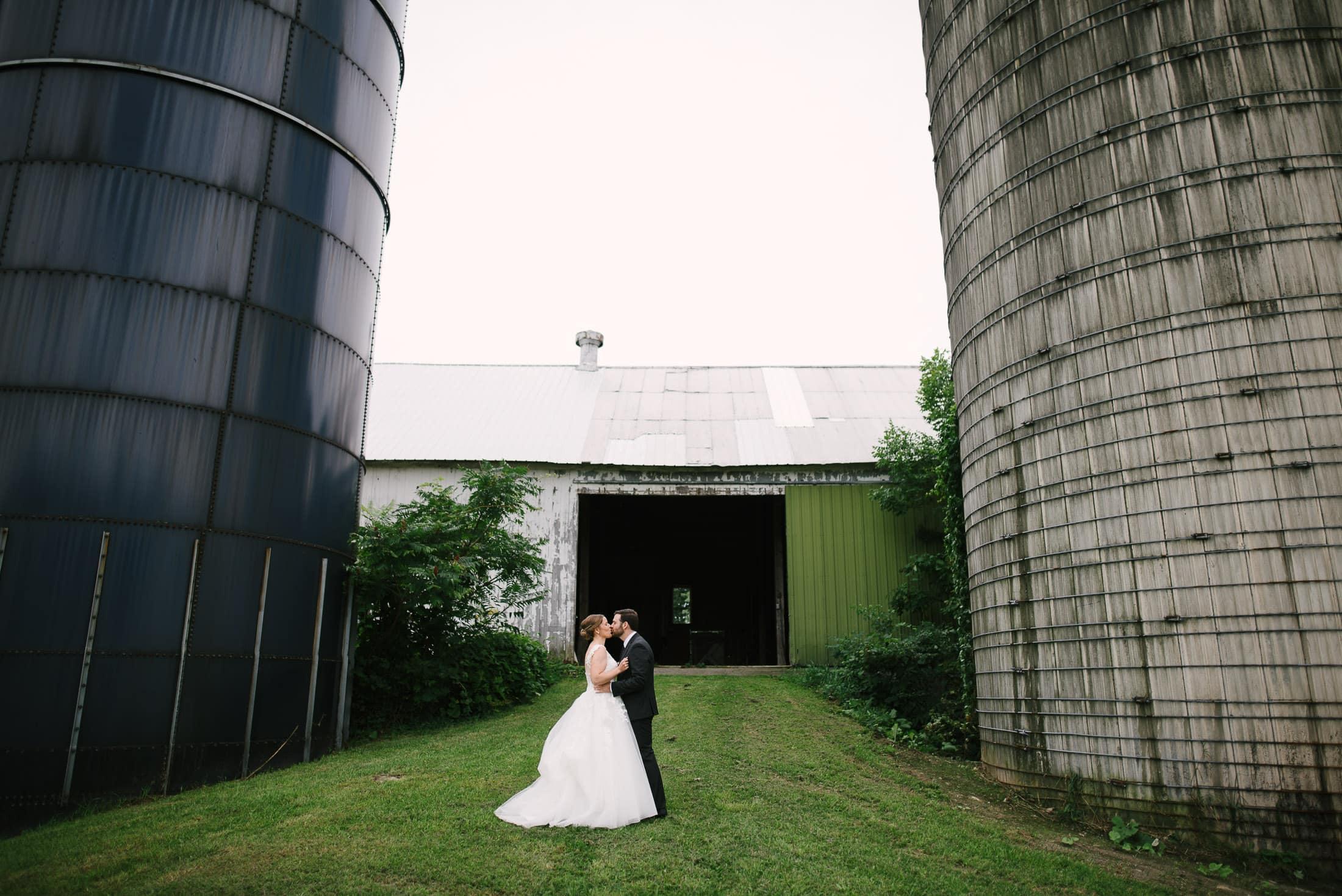 New York Dairy Farm Wedding First Look