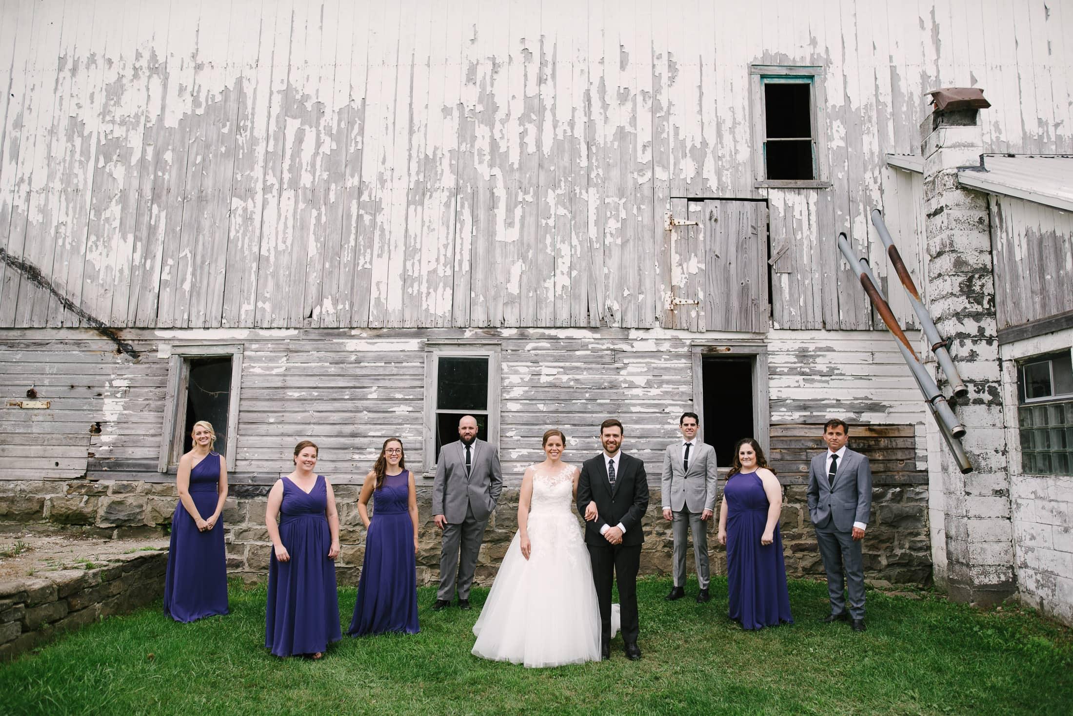 New York Dairy Farm Wedding Wedding Party