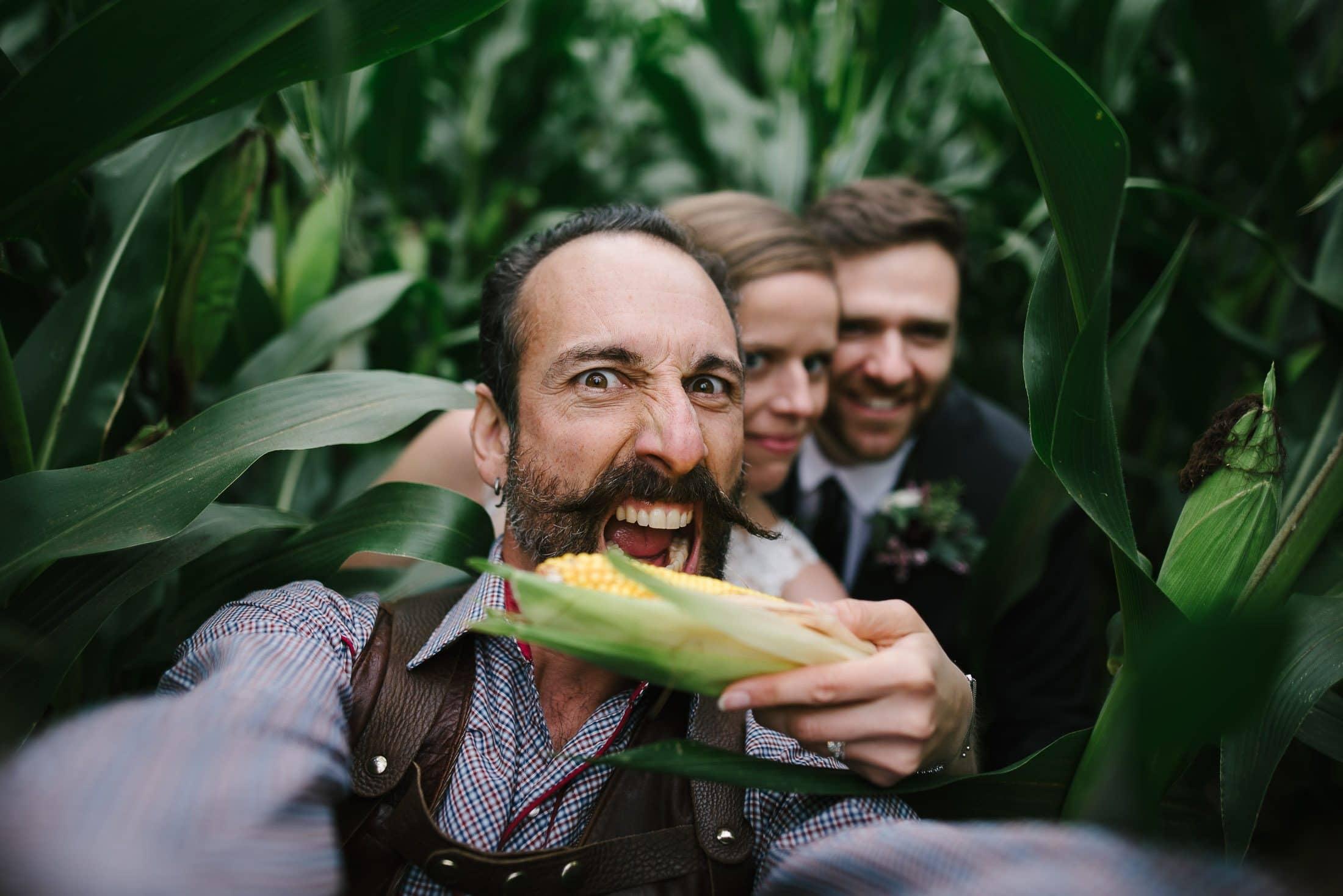 New York Wedding in corn field
