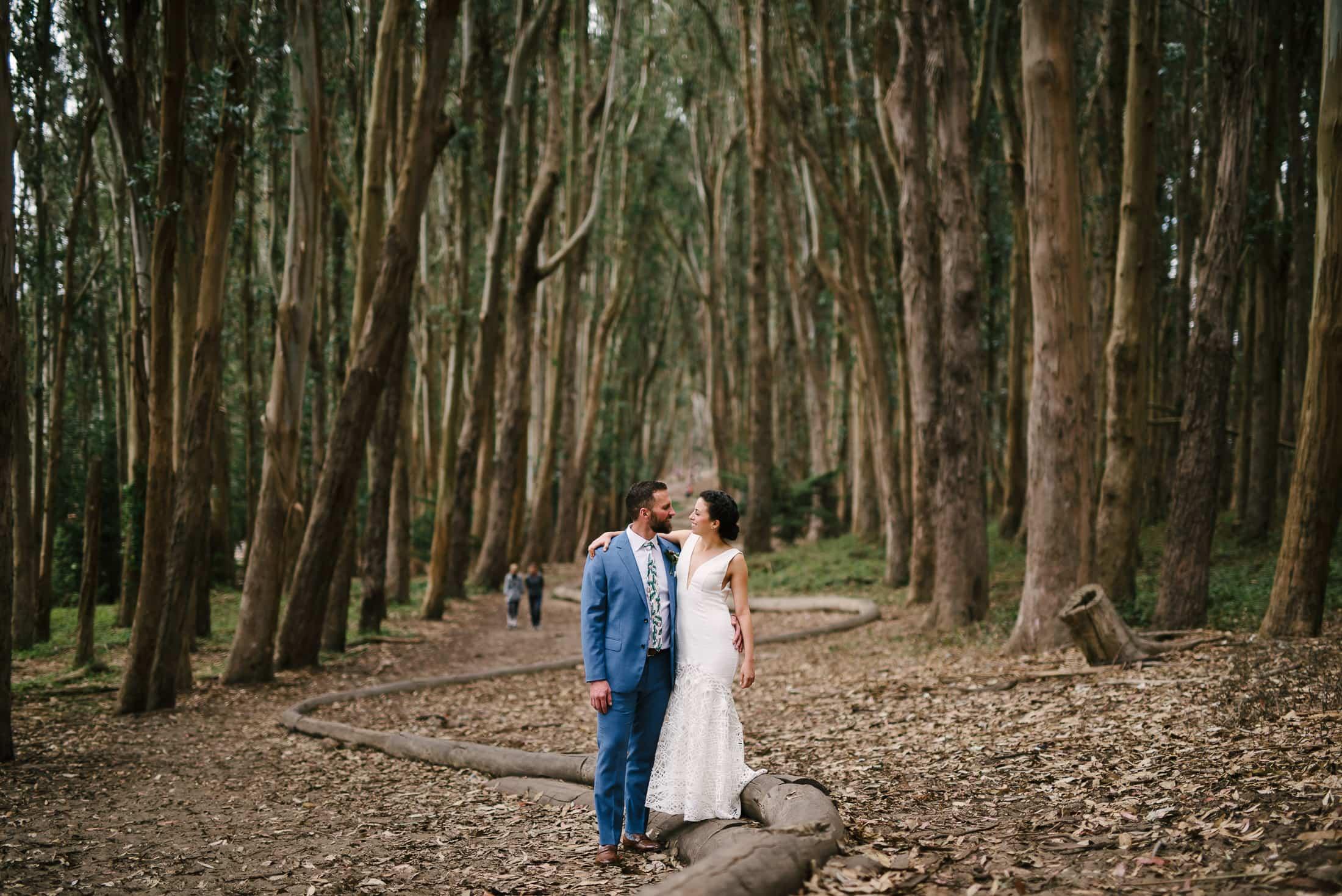 Wood line wedding portraits