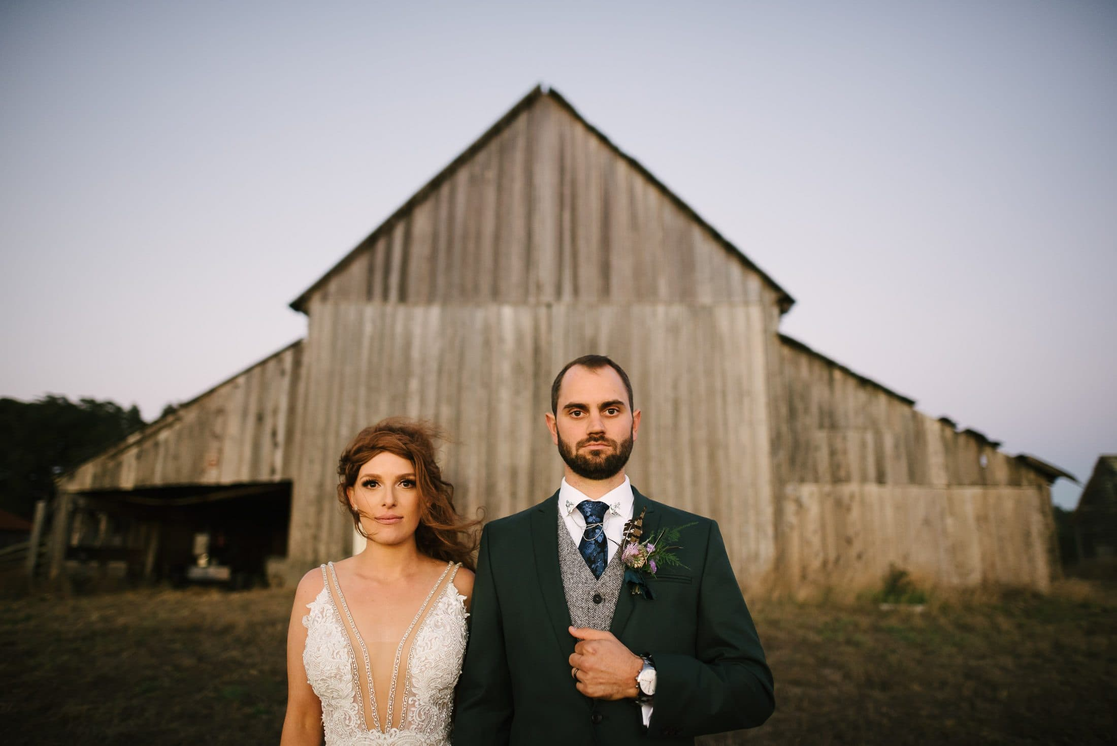 Spring Ranch Wedding Portrait