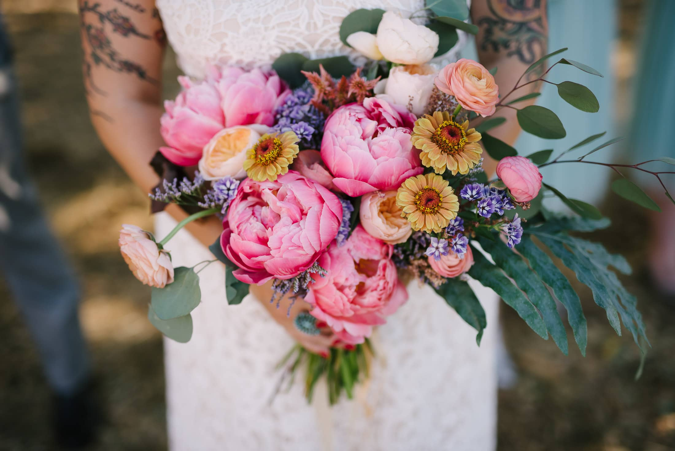Wedding Bouquet by Flowers and Forage