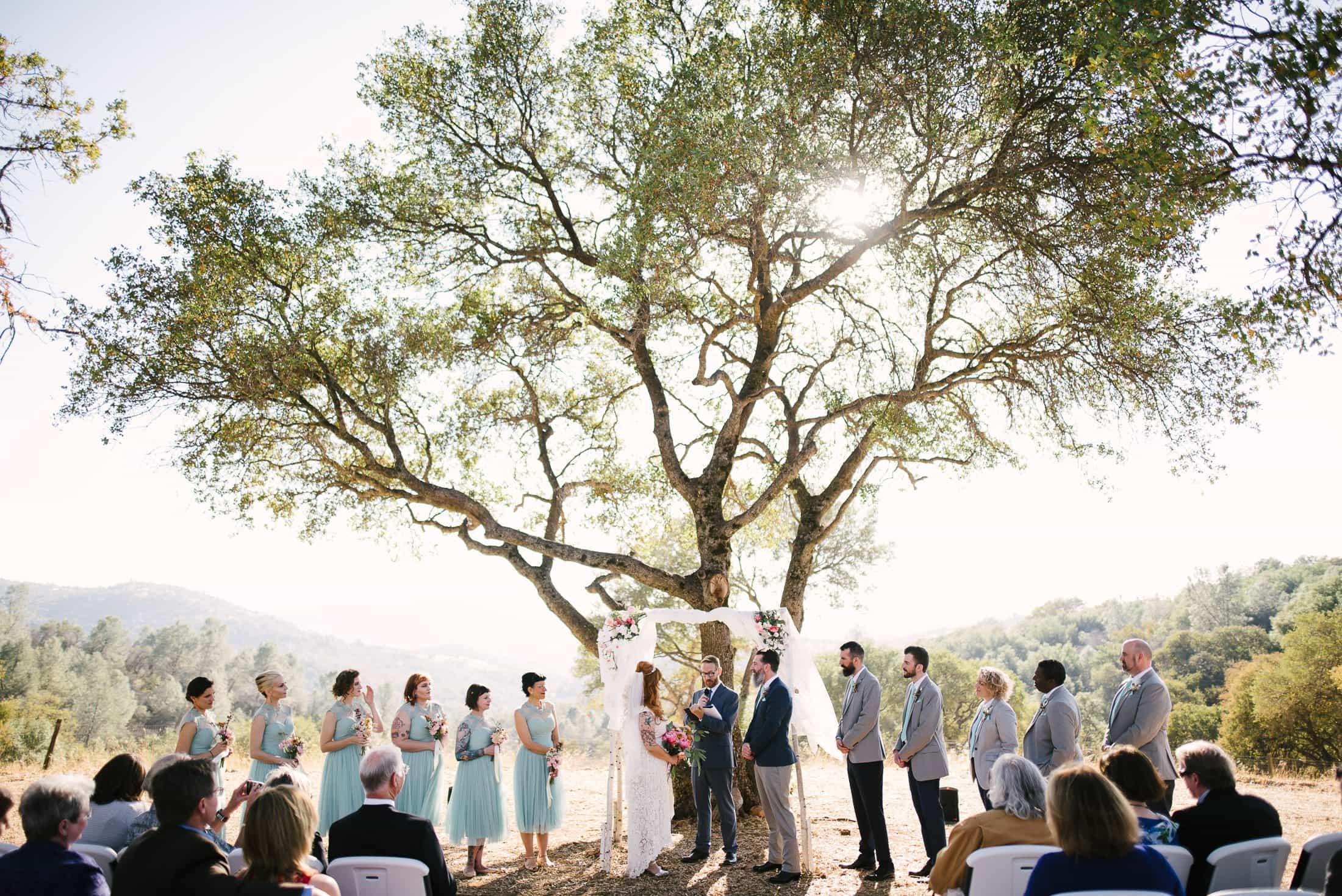 Big Table Ranch Wedding Ceremony
