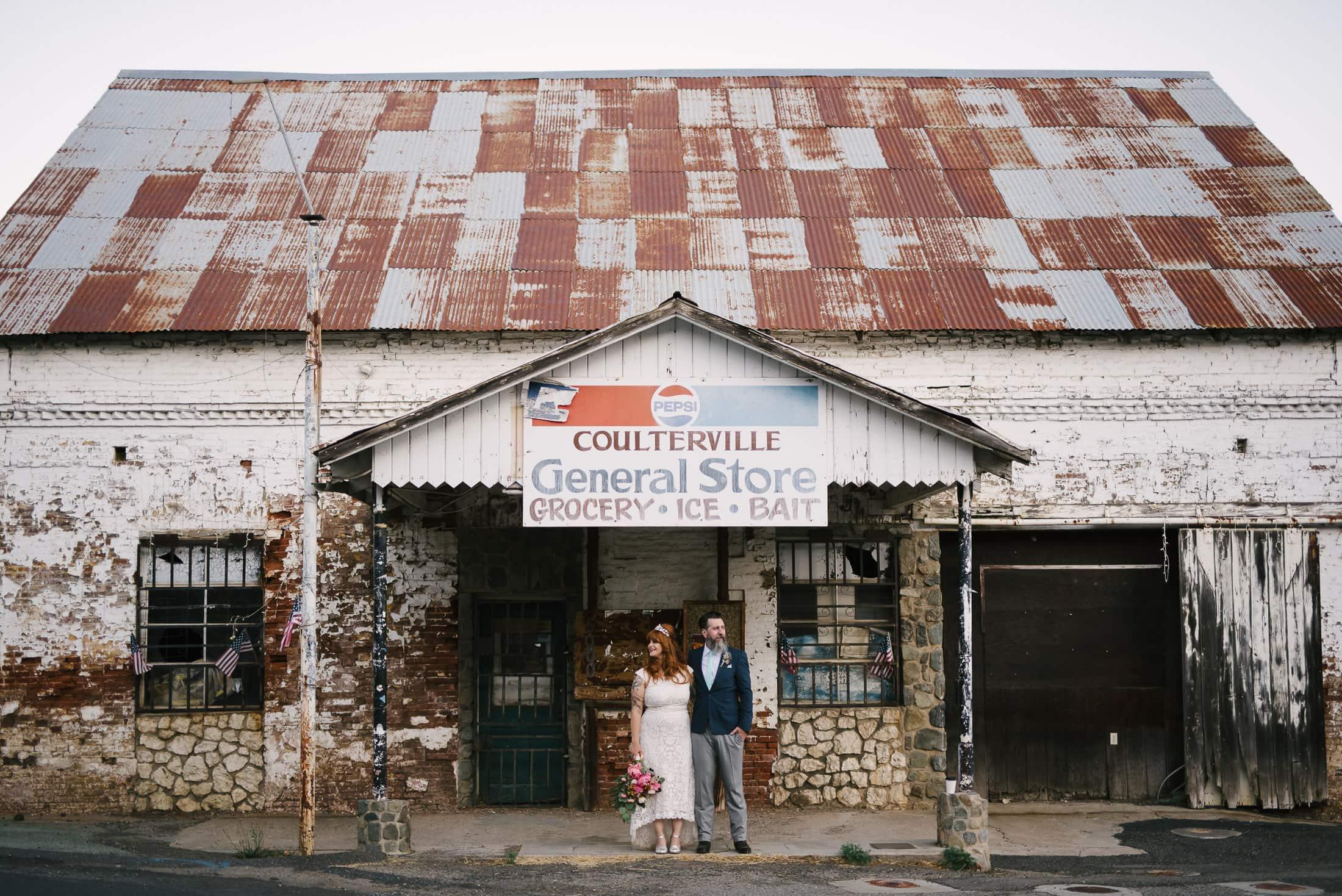 Coulterville Wedding Portrait