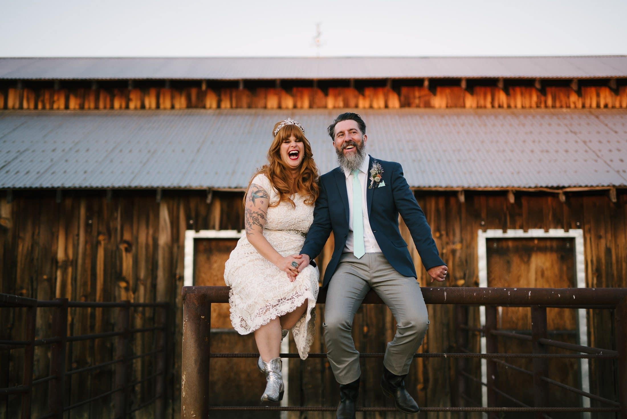 Big Table Ranch Wedding Portrait
