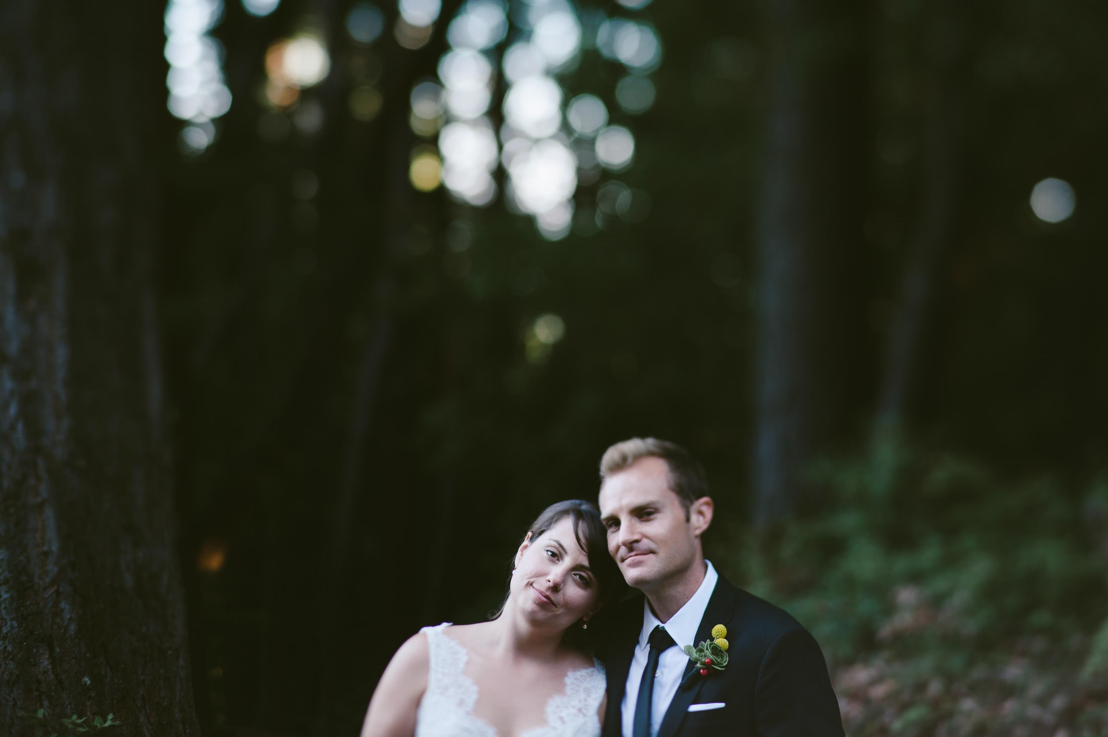 Sequoia Retreat Wedding Couple Portrait
