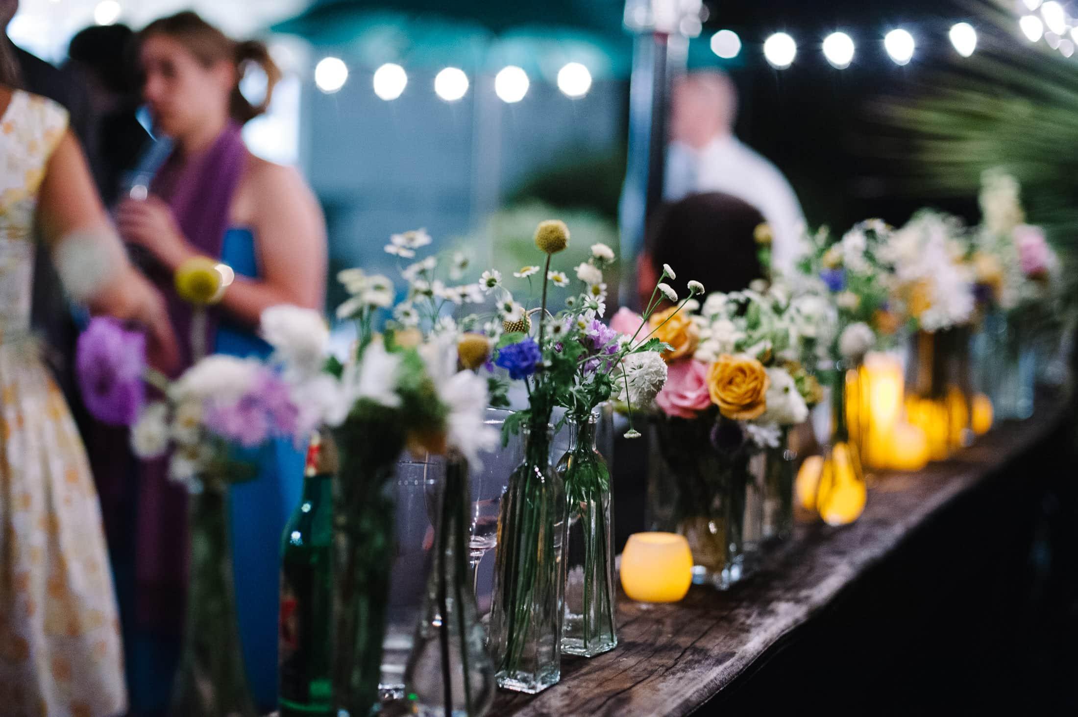 Artistic UC Botanical Garden Wedding detail of flowers