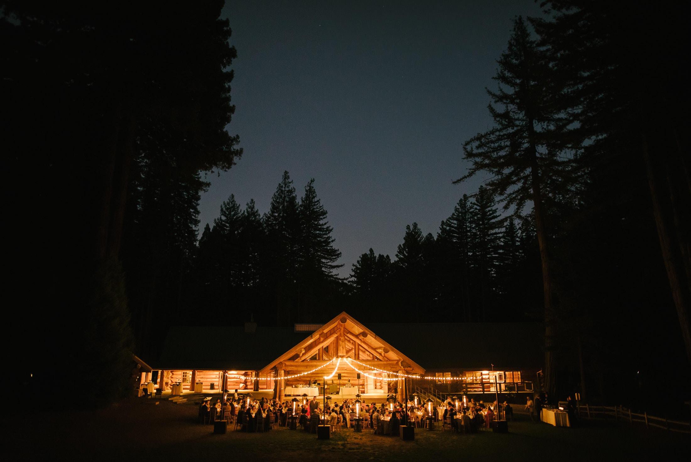 Boulder Creek YMCA Wedding Night Shot