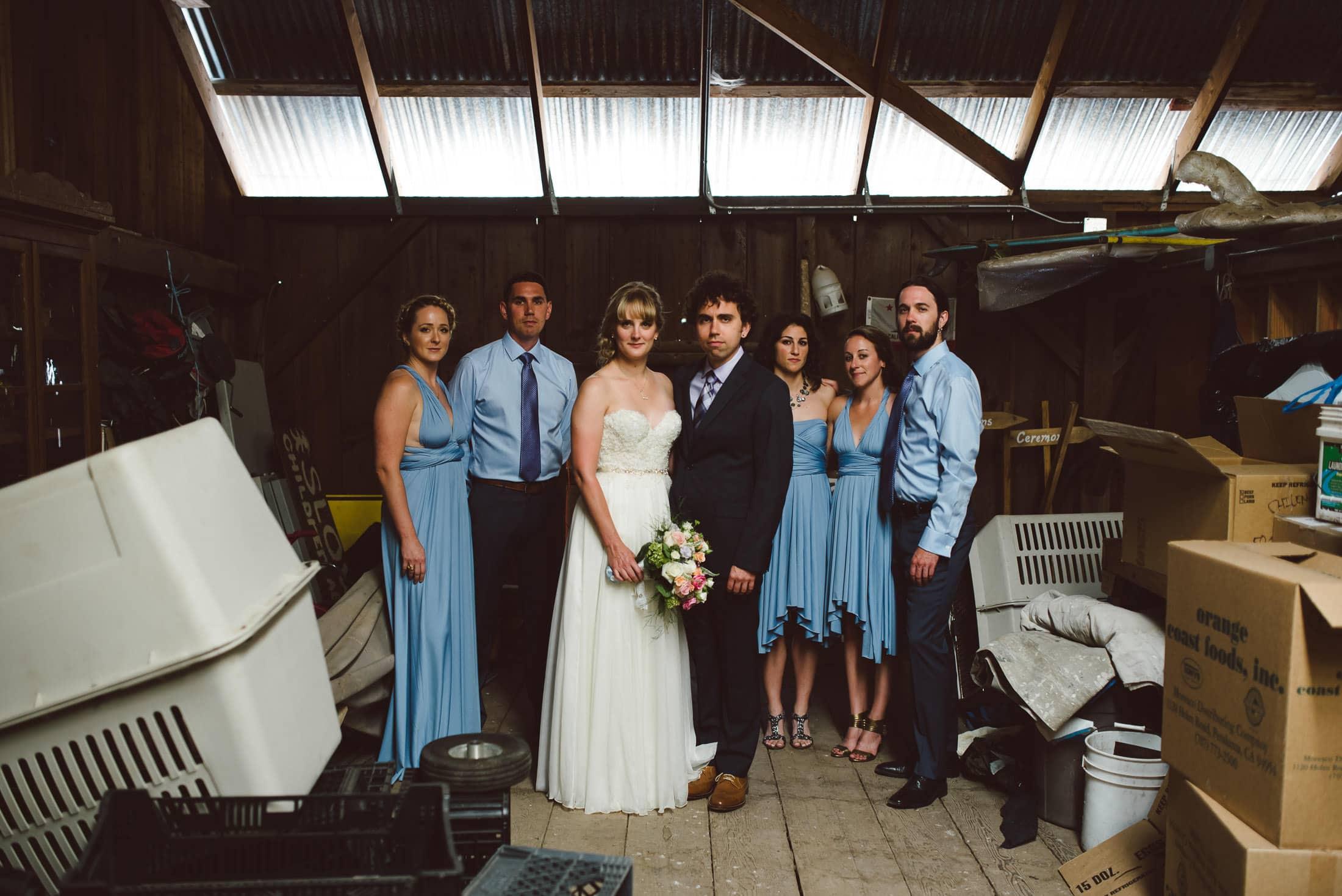 unique wedding party portrait at chileno valley ranch