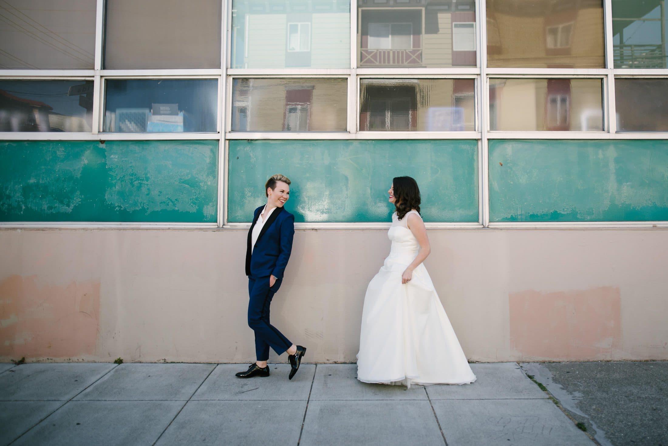 Foreign Cinema Wedding Portrait