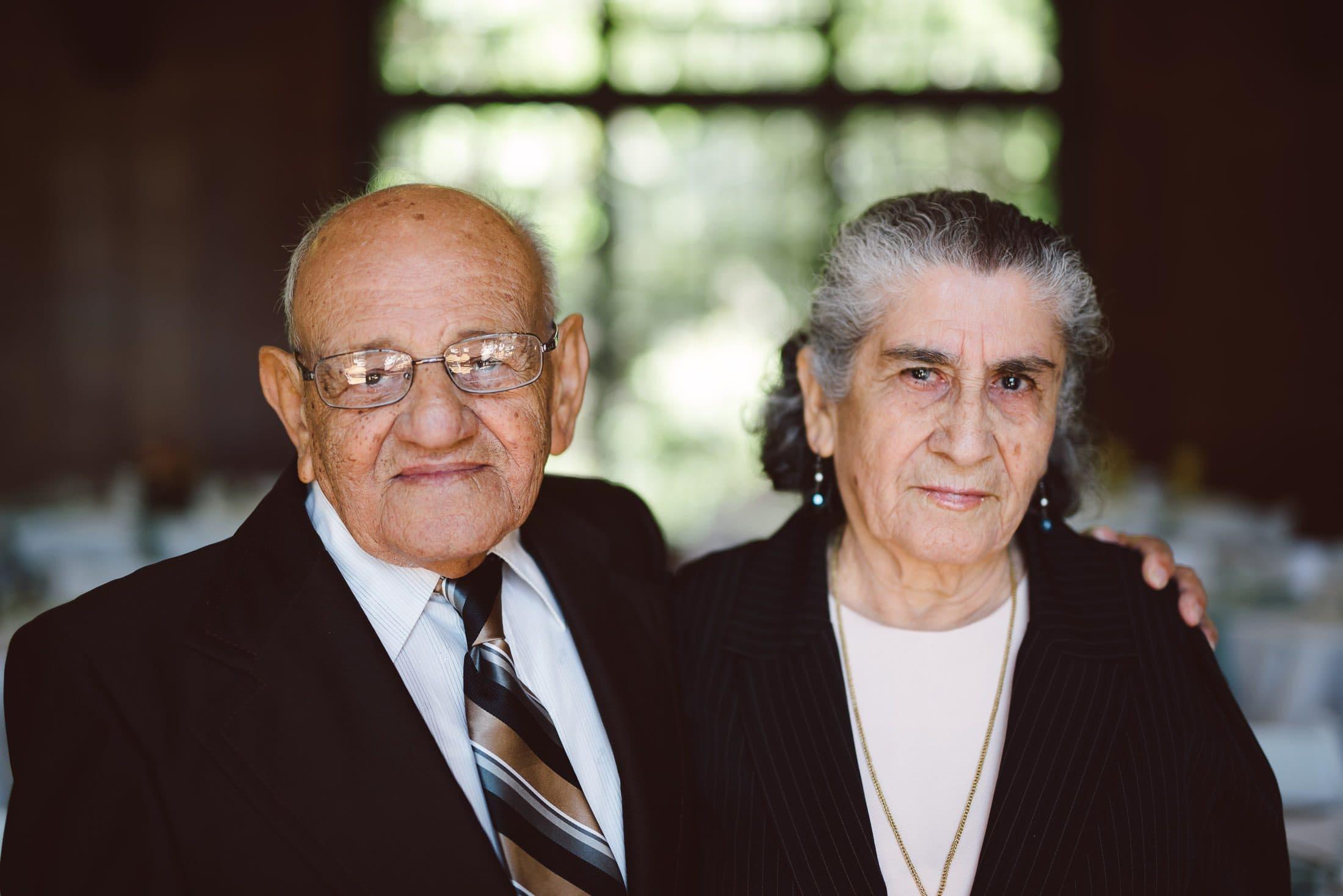 Grandparents portrait at brazil room wedding