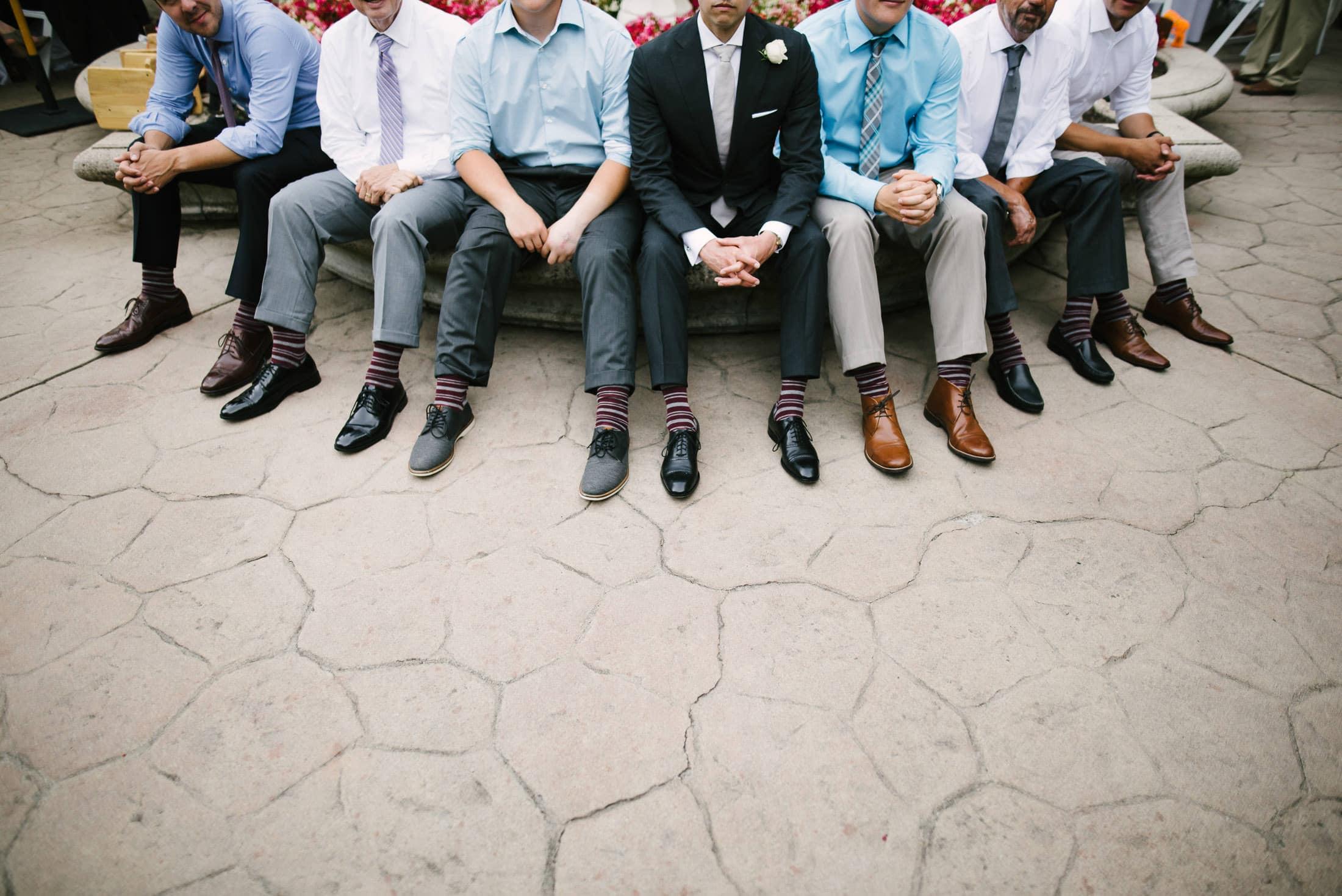 Hacienda de las Flores Wedding Matching Socks