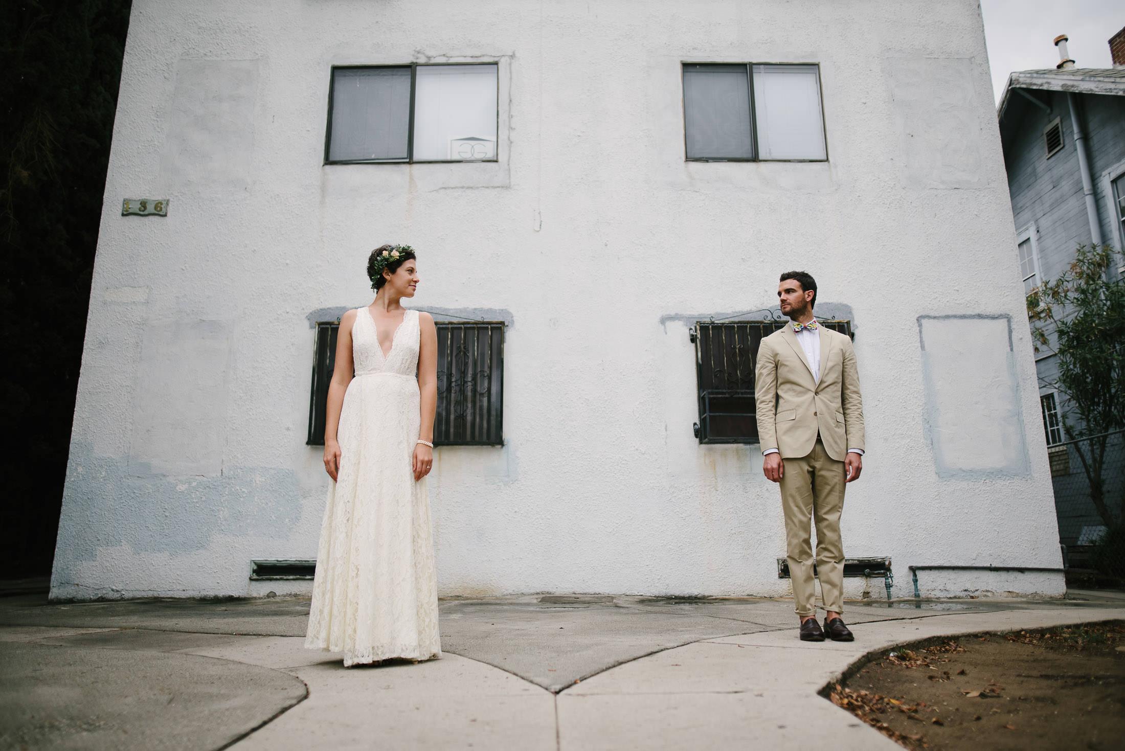 Portrait of LA Wedding Couple