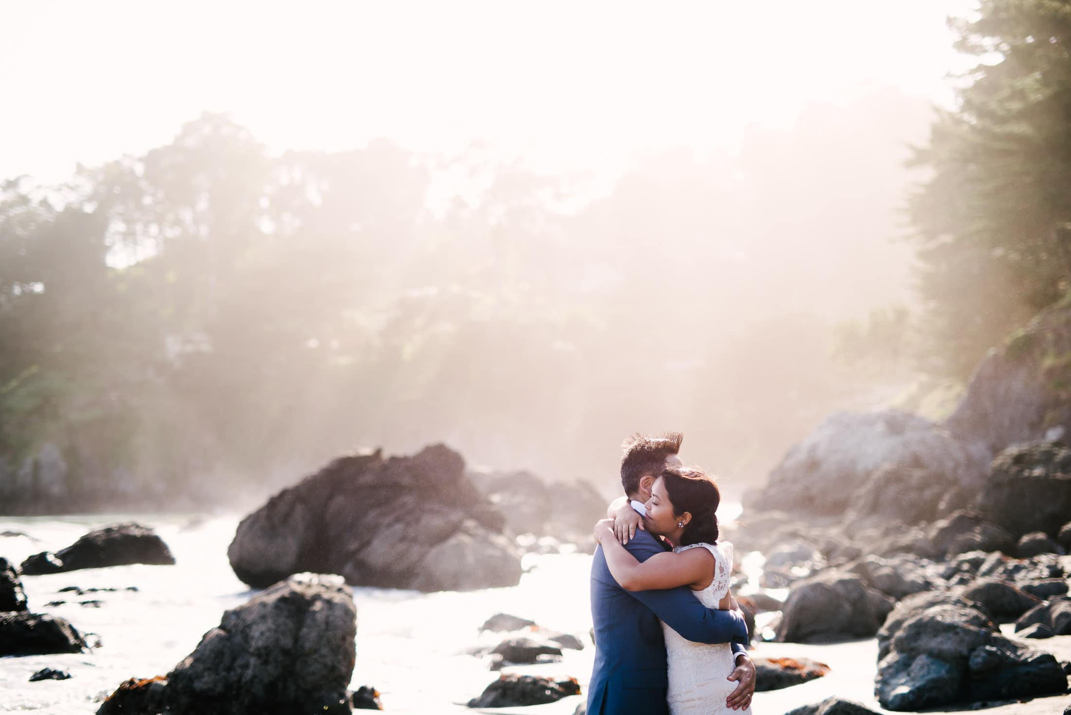 Muir Beach Wedding Portrait