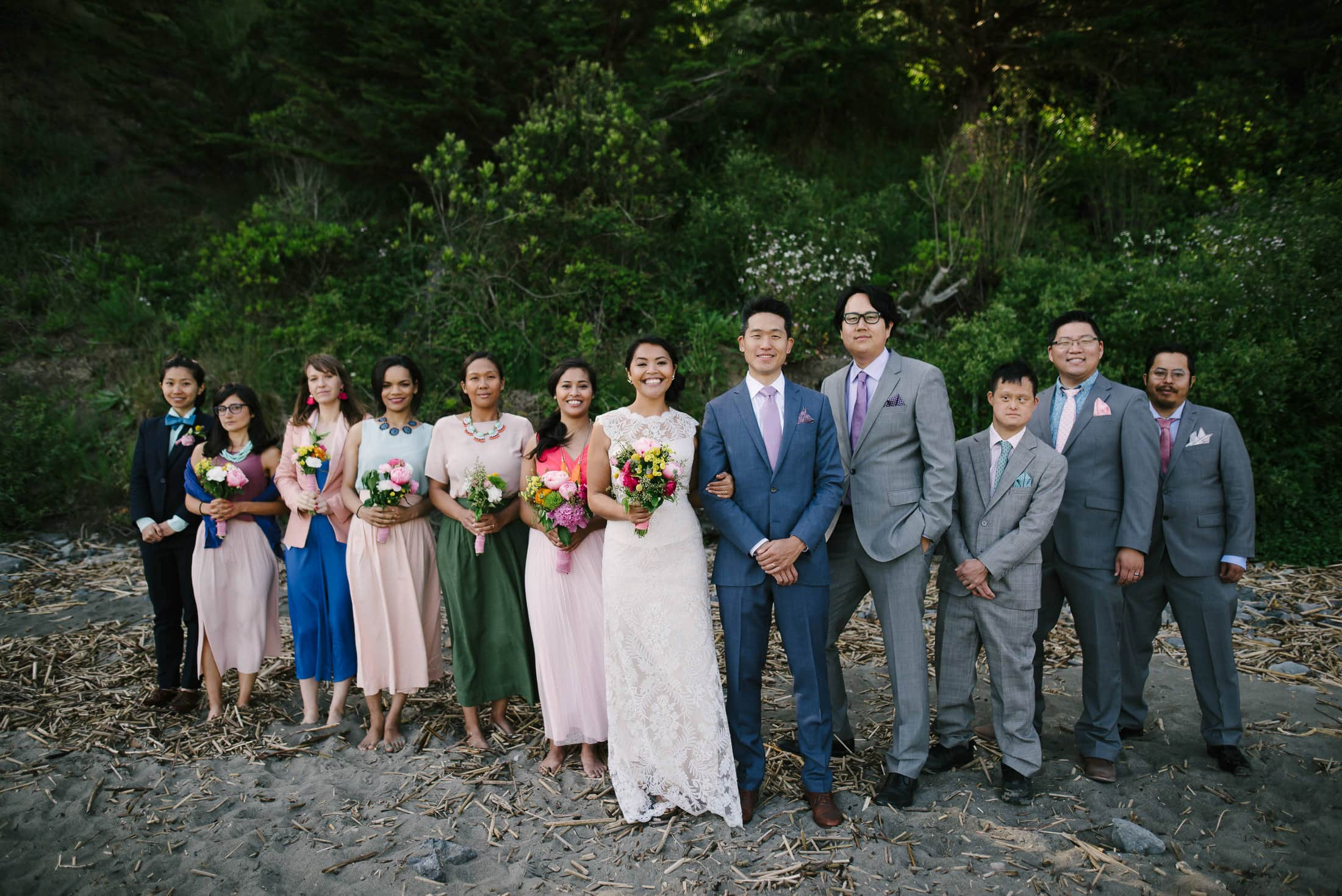 Muir Beach Wedding Party Portrait