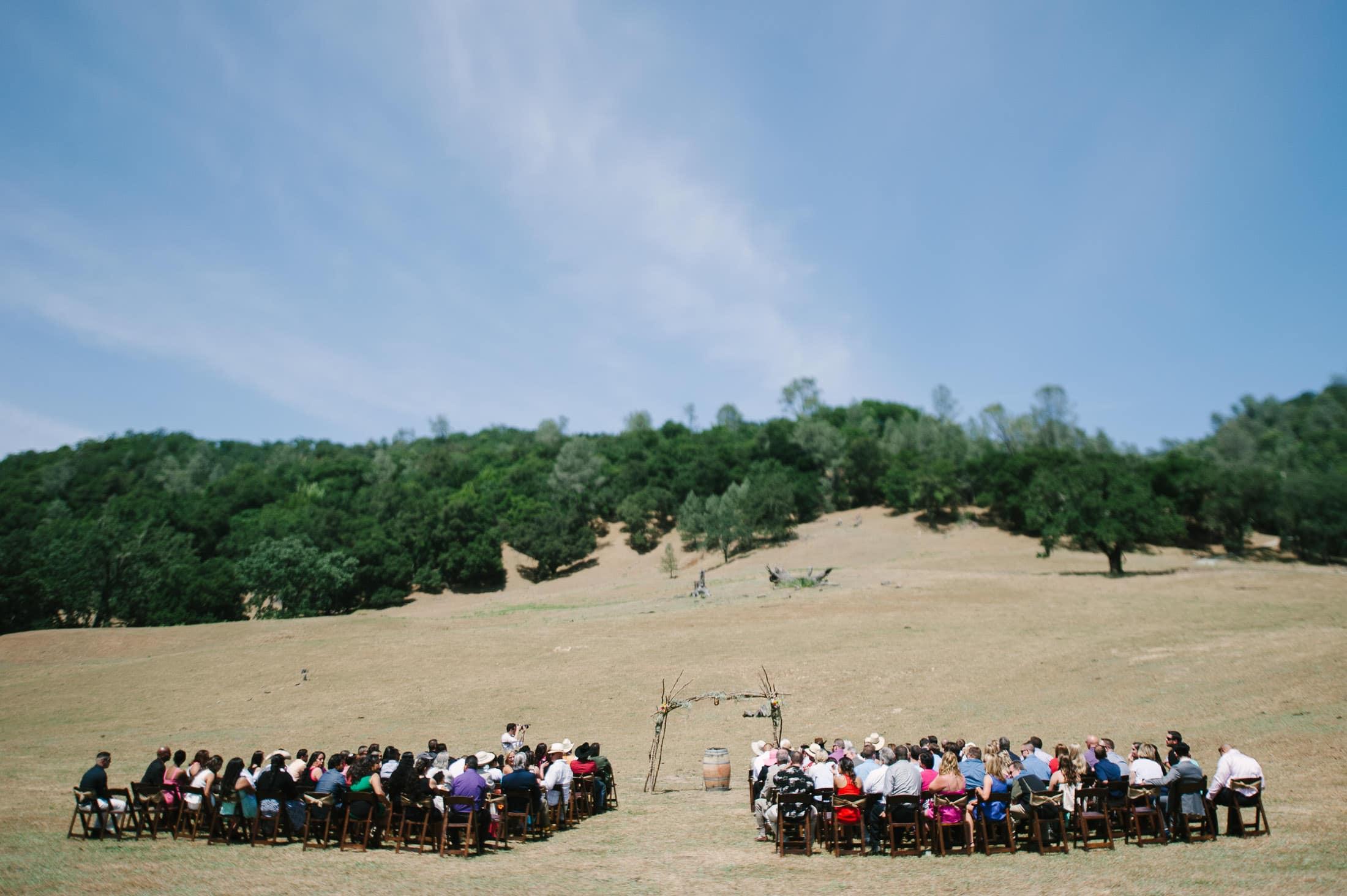 artistic napa wedding ceremony landscape
