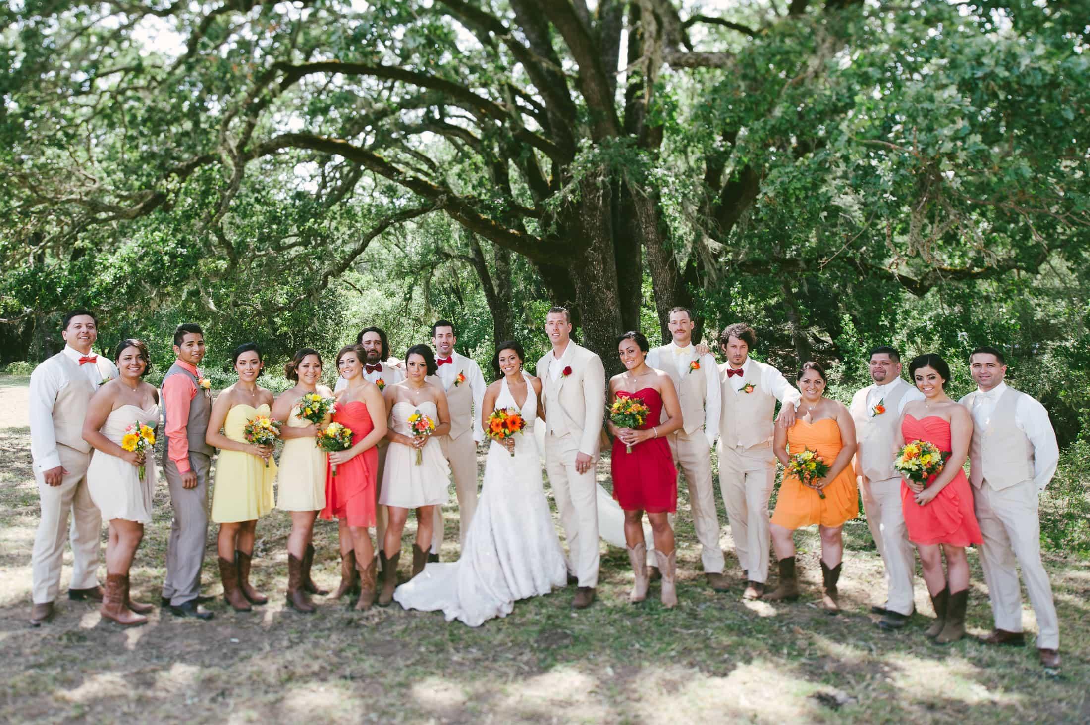 fun napa ranch wedding party image